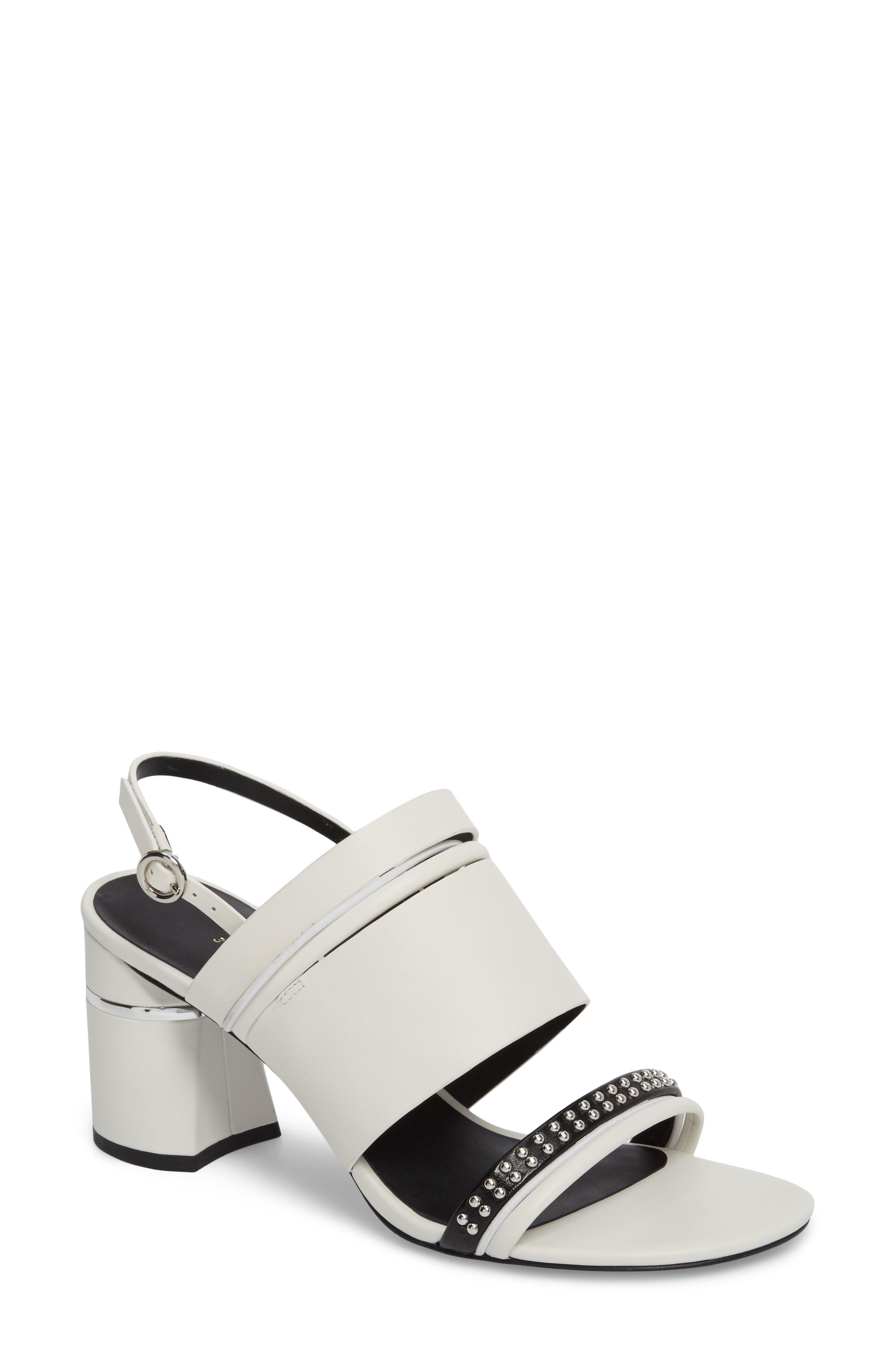 Slingback Sandal,                             Main thumbnail 1, color,                             White