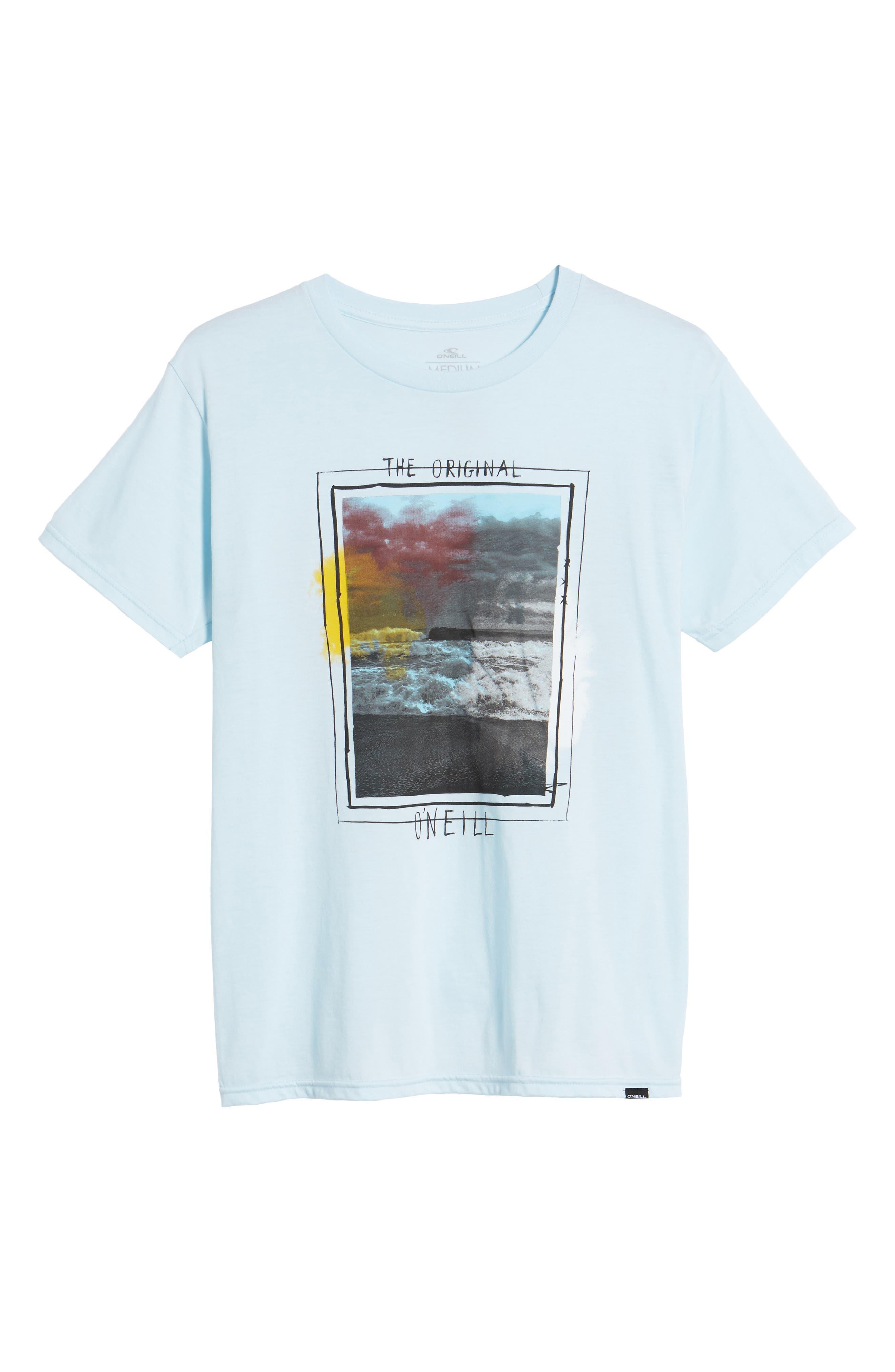 Tide Graphic T-Shirt,                             Alternate thumbnail 6, color,                             Light Blue Heather