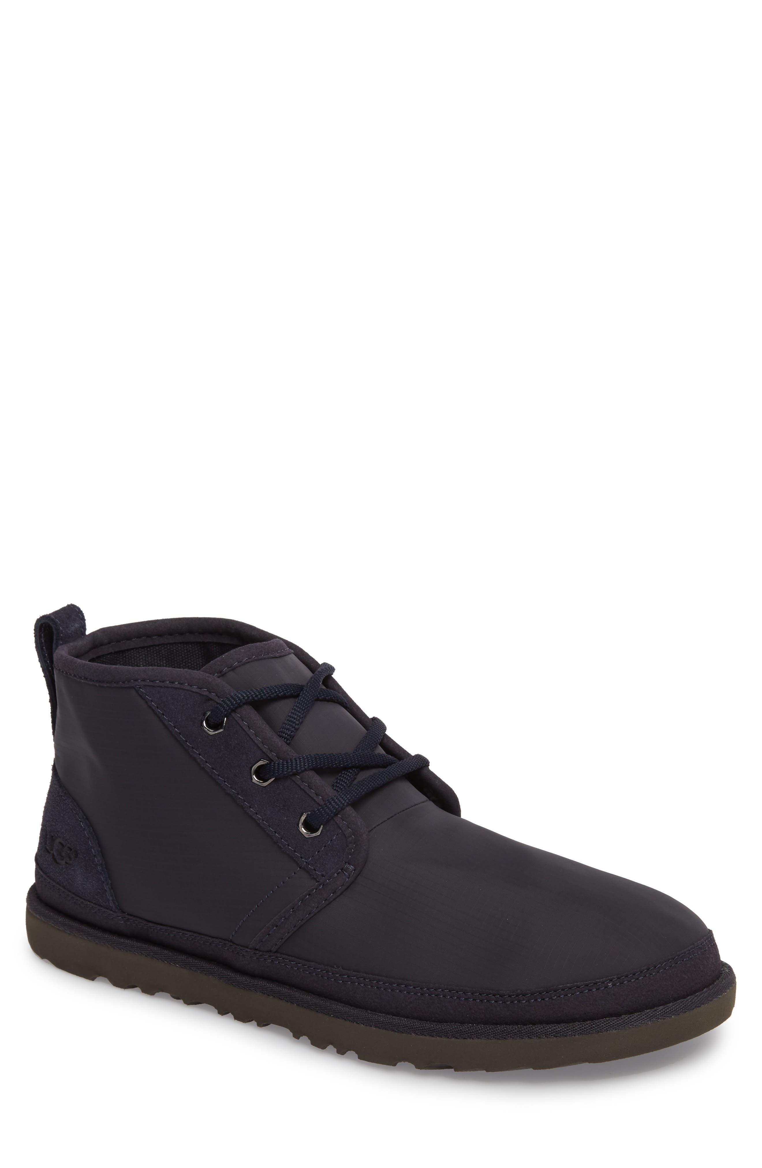 Neumel Ripstop Chukka Boot,                             Main thumbnail 1, color,                             True Navy Leather