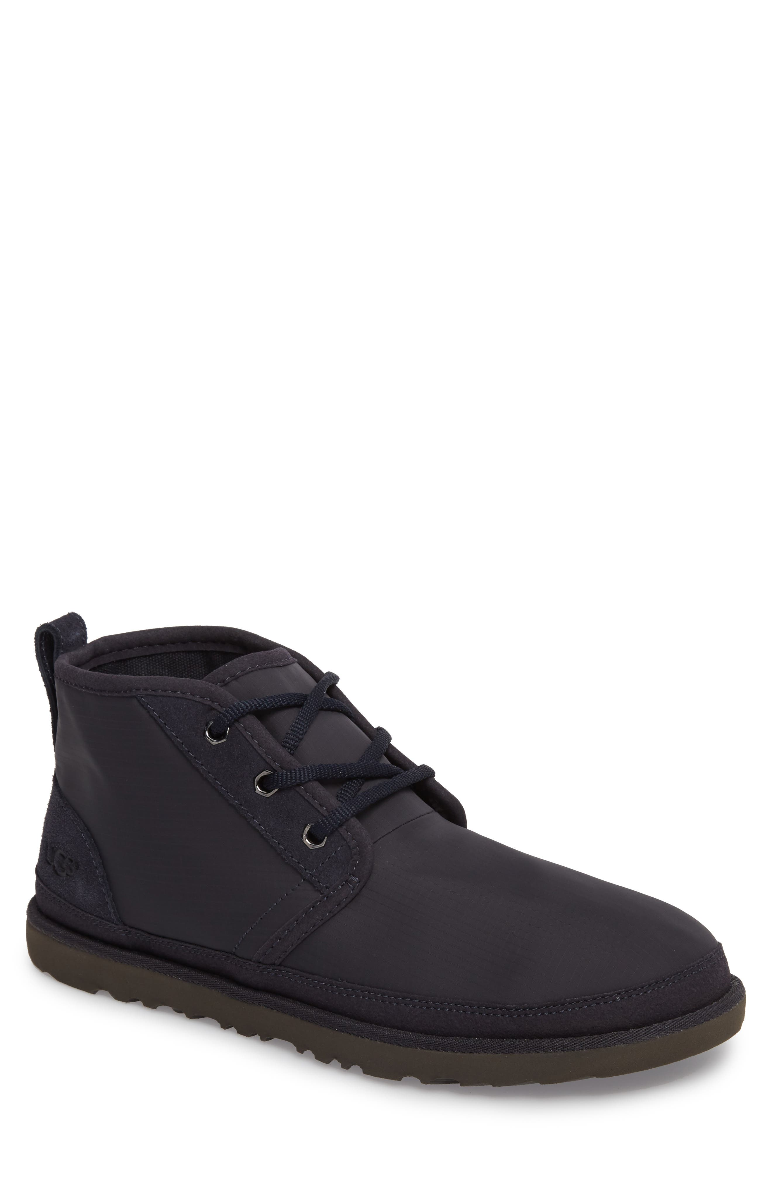 Neumel Ripstop Chukka Boot,                         Main,                         color, True Navy Leather