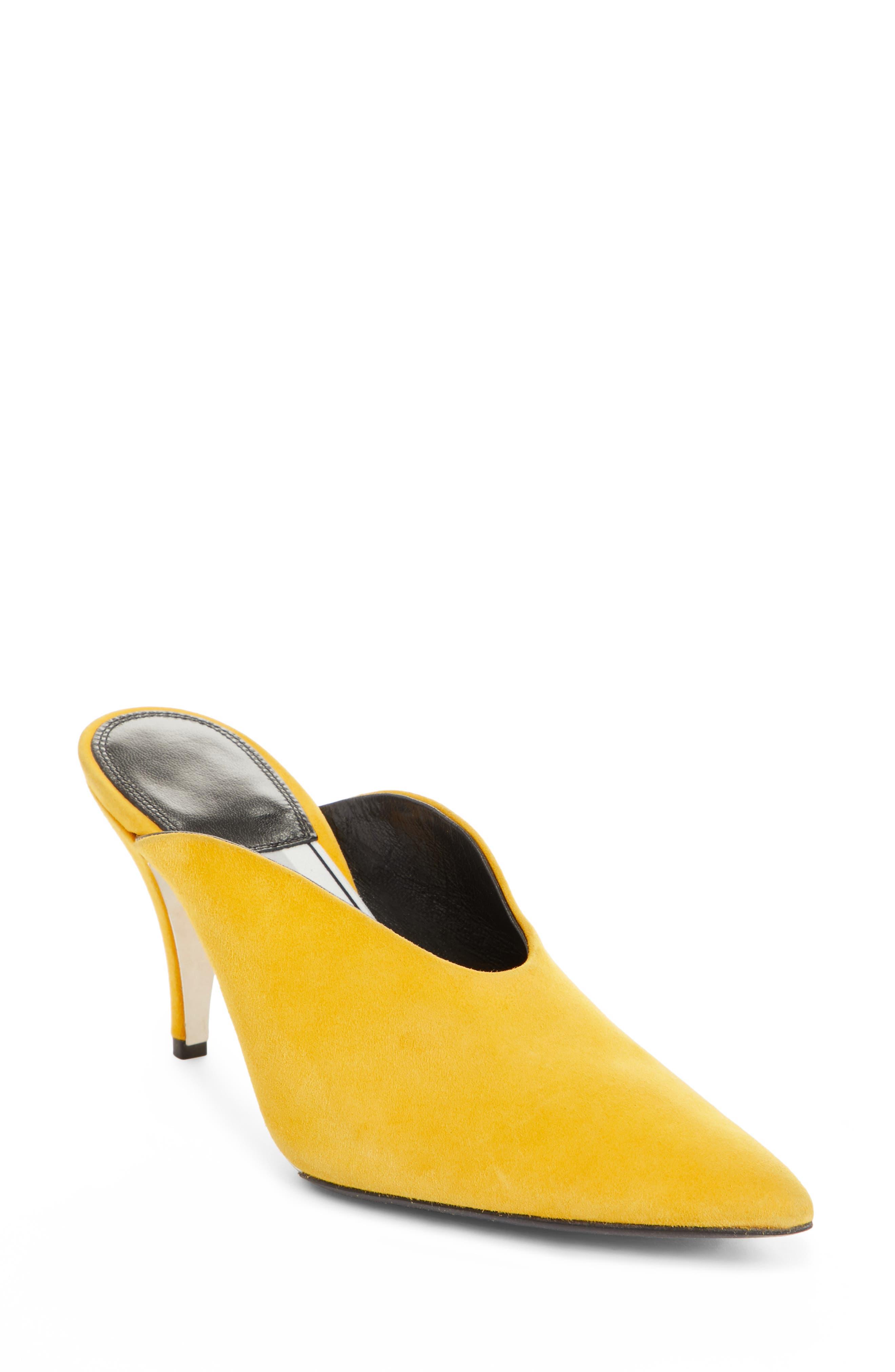Roslynn Pointy Toe Mule,                             Main thumbnail 1, color,                             Sun Yellow