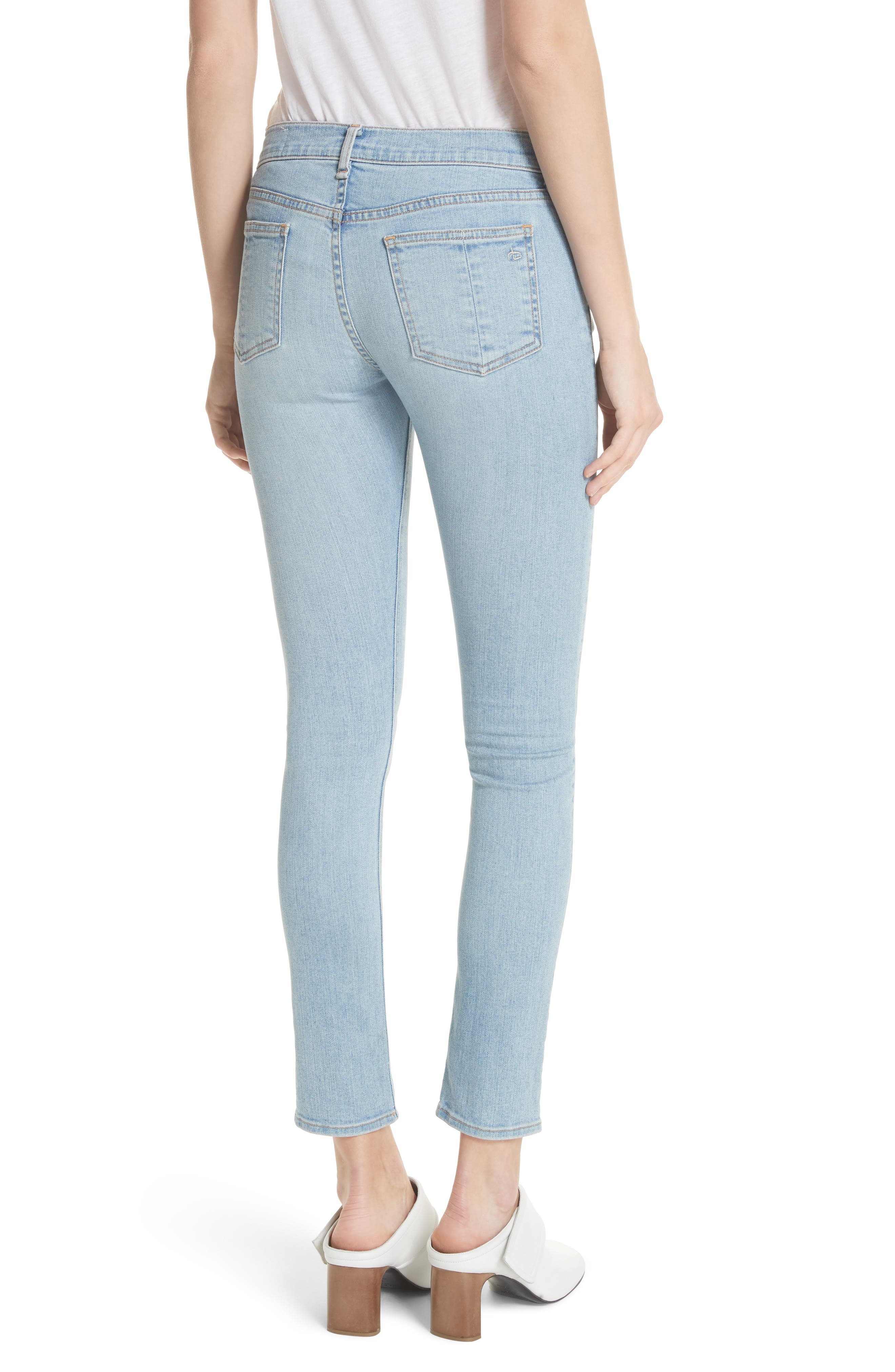 Ankle Skinny Jeans,                             Alternate thumbnail 3, color,                             Nelly