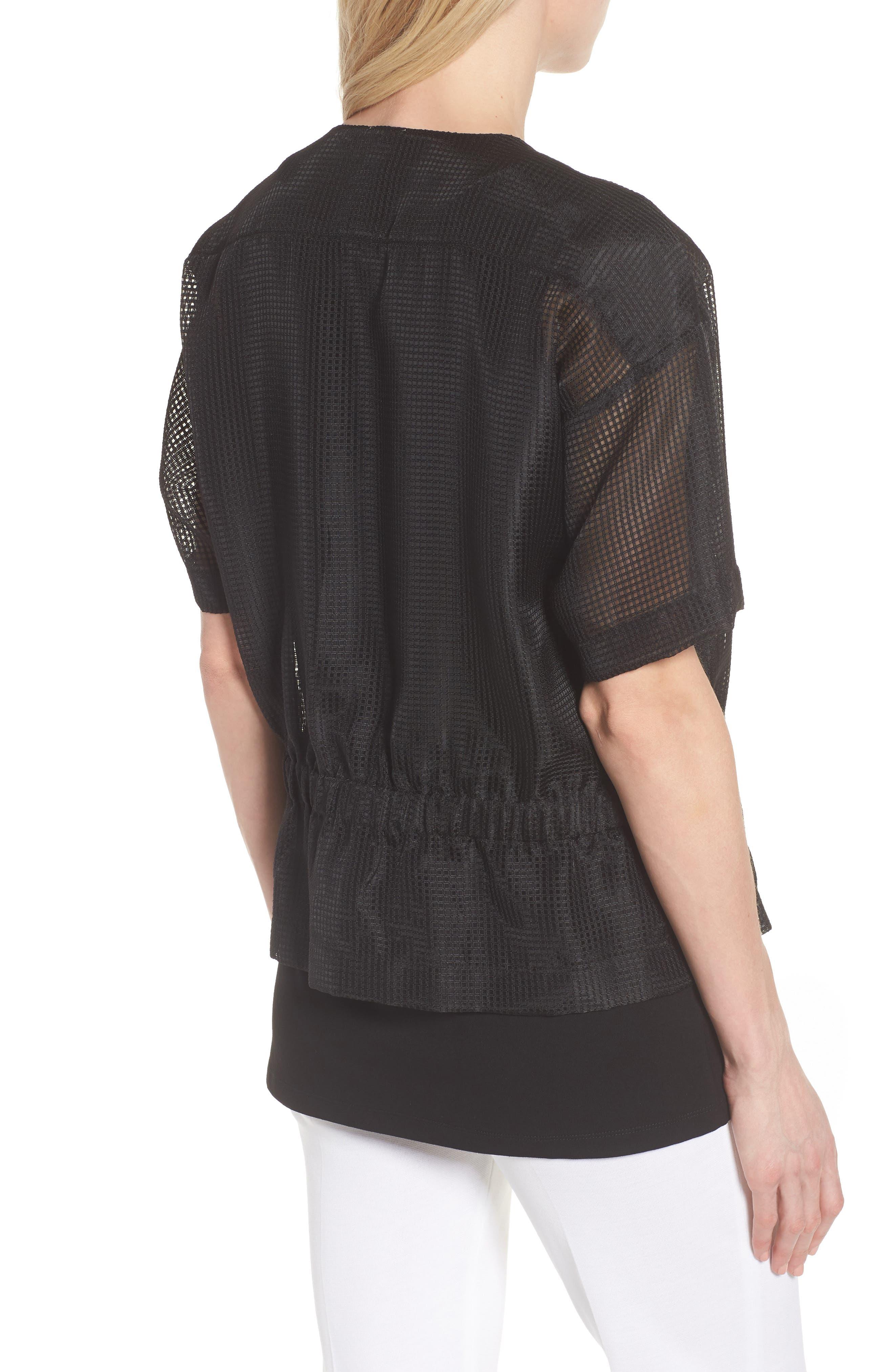 Mesh Jacket,                             Alternate thumbnail 2, color,                             Black/ White