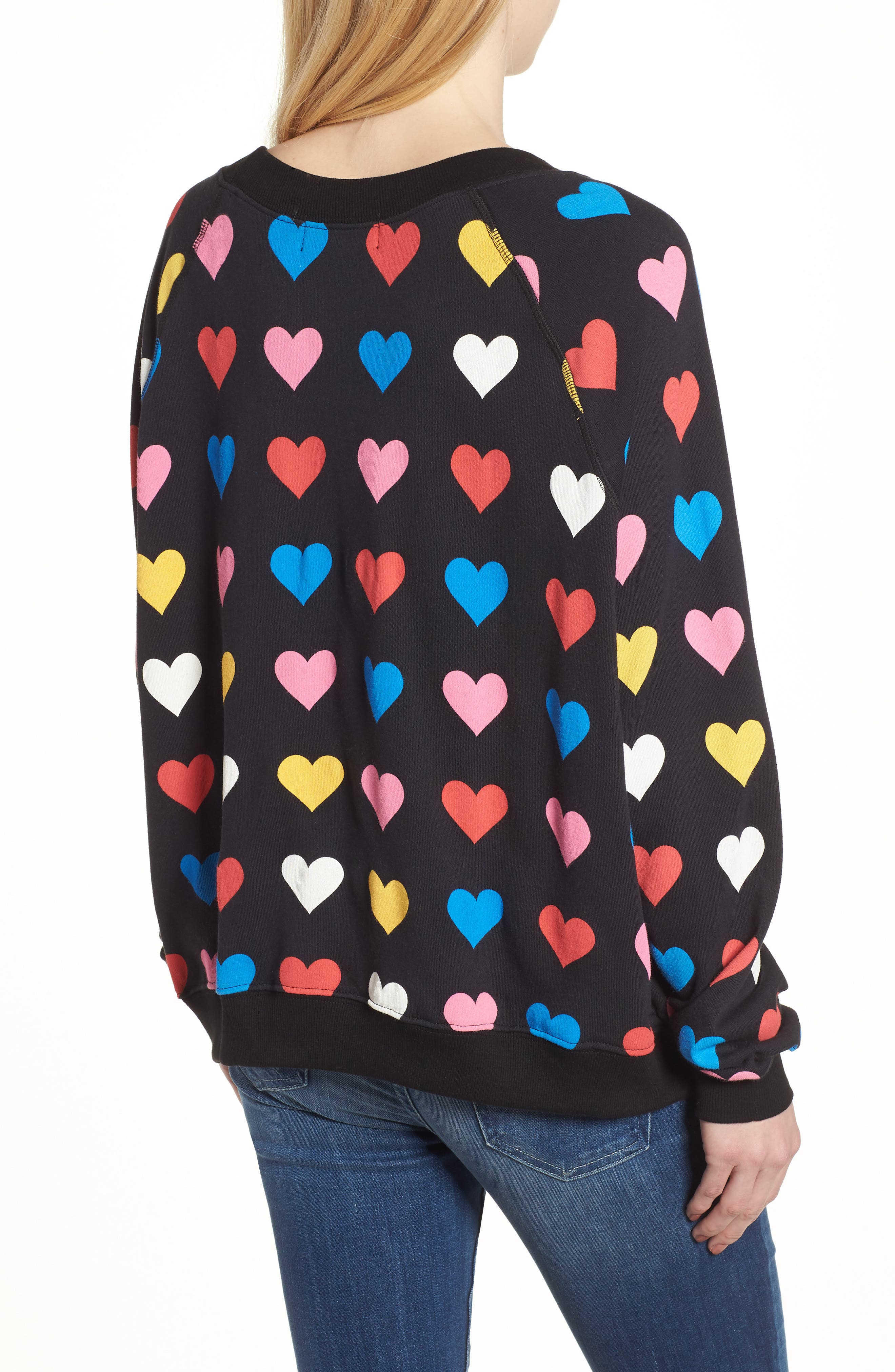 Have a Heart Sommers Sweatshirt,                             Alternate thumbnail 2, color,                             Black