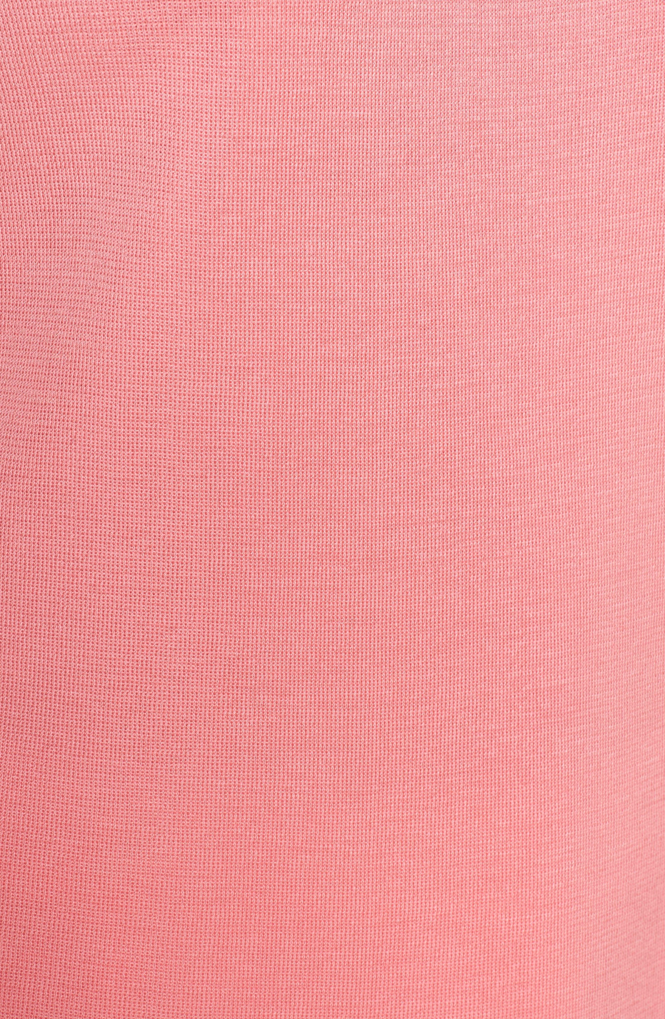 Stripe Neckline Tank,                             Alternate thumbnail 5, color,                             Pink Lemonade/ Black/ White