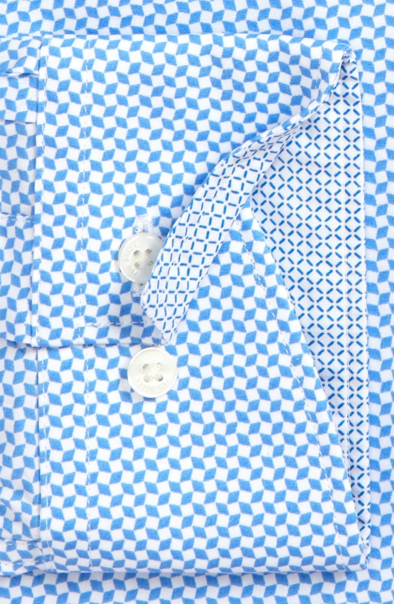 Endurance Trim Fit Dress Shirt,                             Alternate thumbnail 2, color,                             Blue