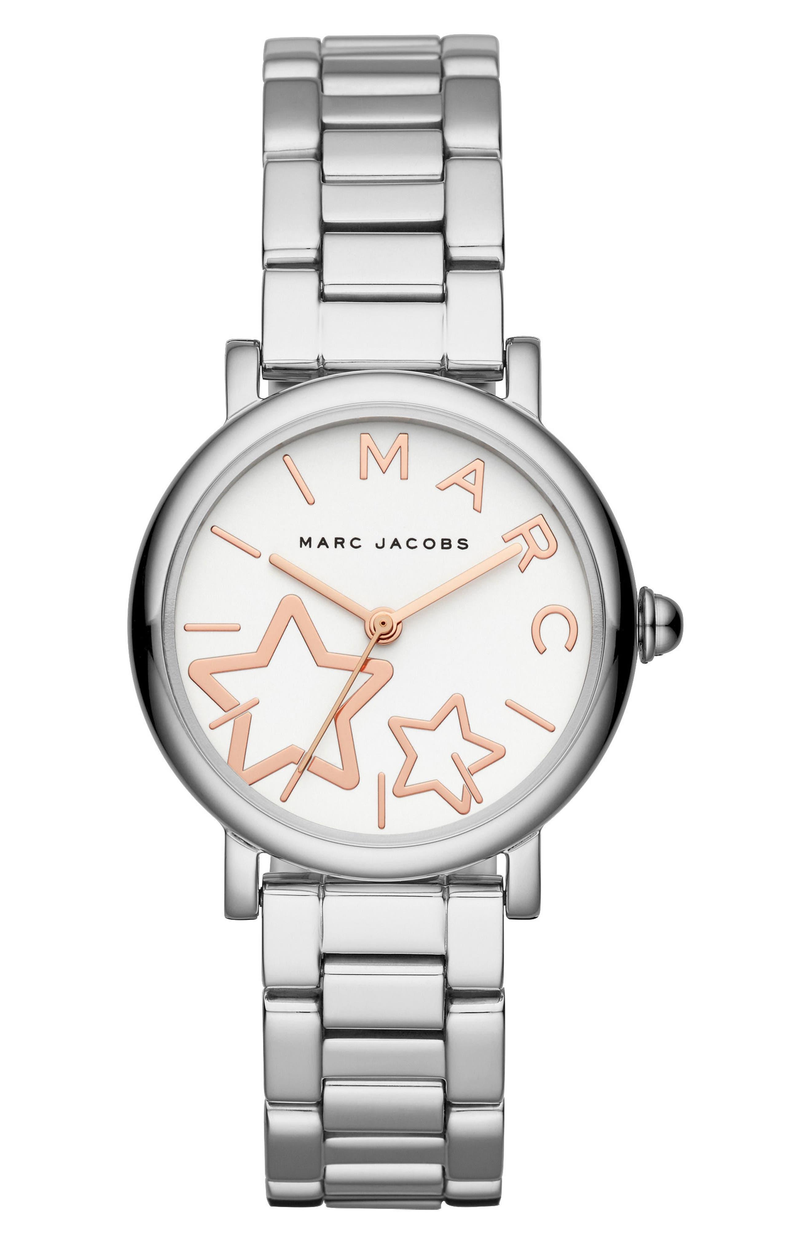 Classic Bracelet Watch, 29mm,                             Main thumbnail 1, color,                             Silver/ White/ Silver
