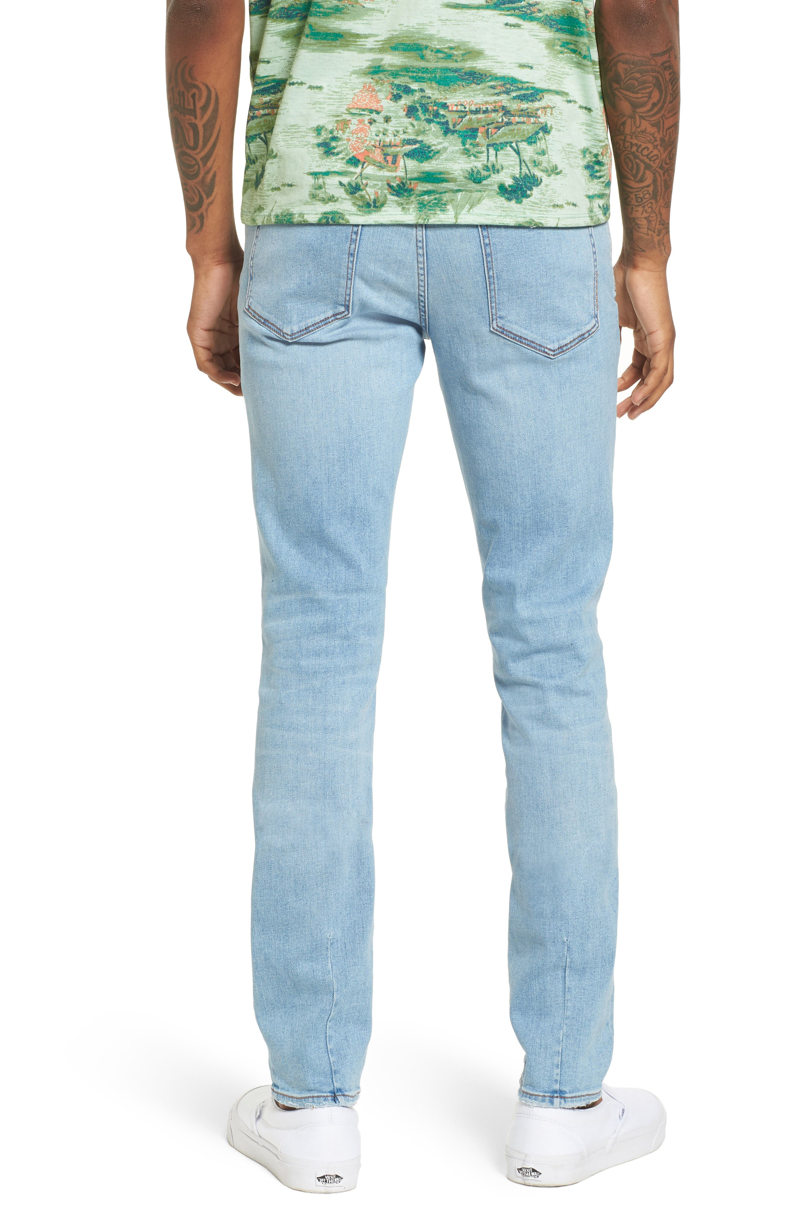 Iggy Skinny Fit Jeans,                             Alternate thumbnail 2, color,                             Surf Bleach