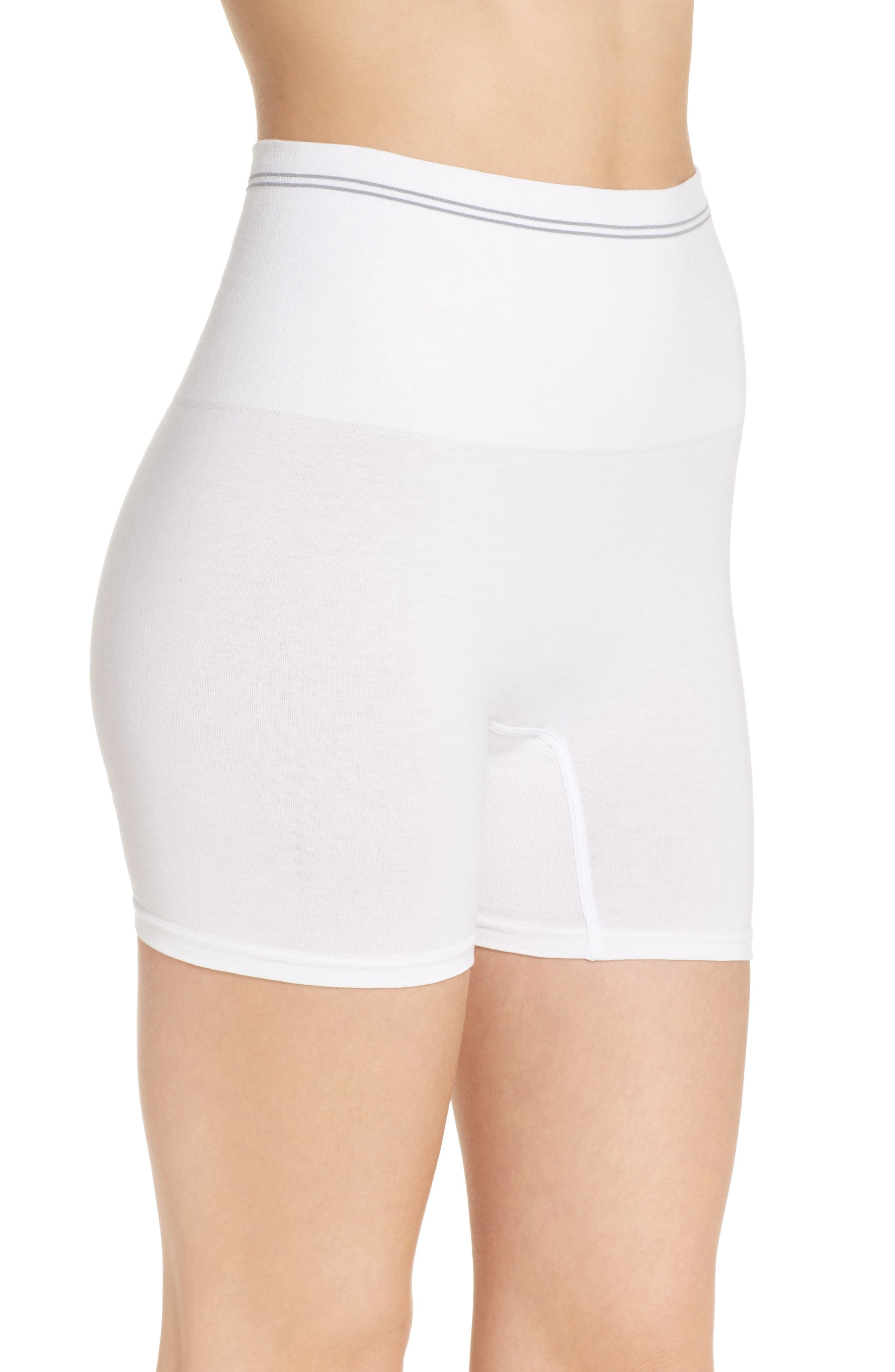 Seamless Shaping Shorts,                             Alternate thumbnail 3, color,                             White