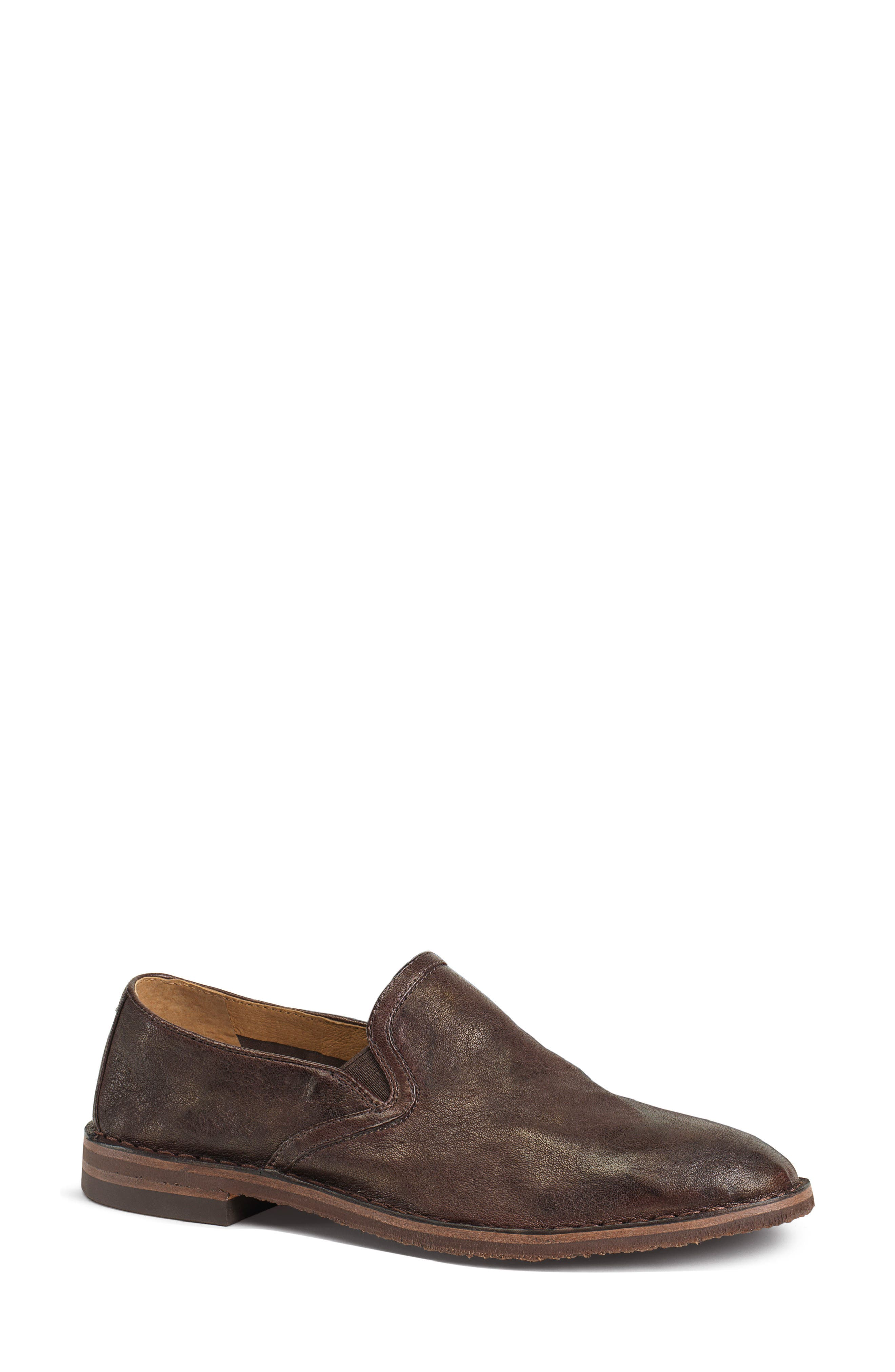 'Ali' Flat,                             Main thumbnail 1, color,                             Brown Leather