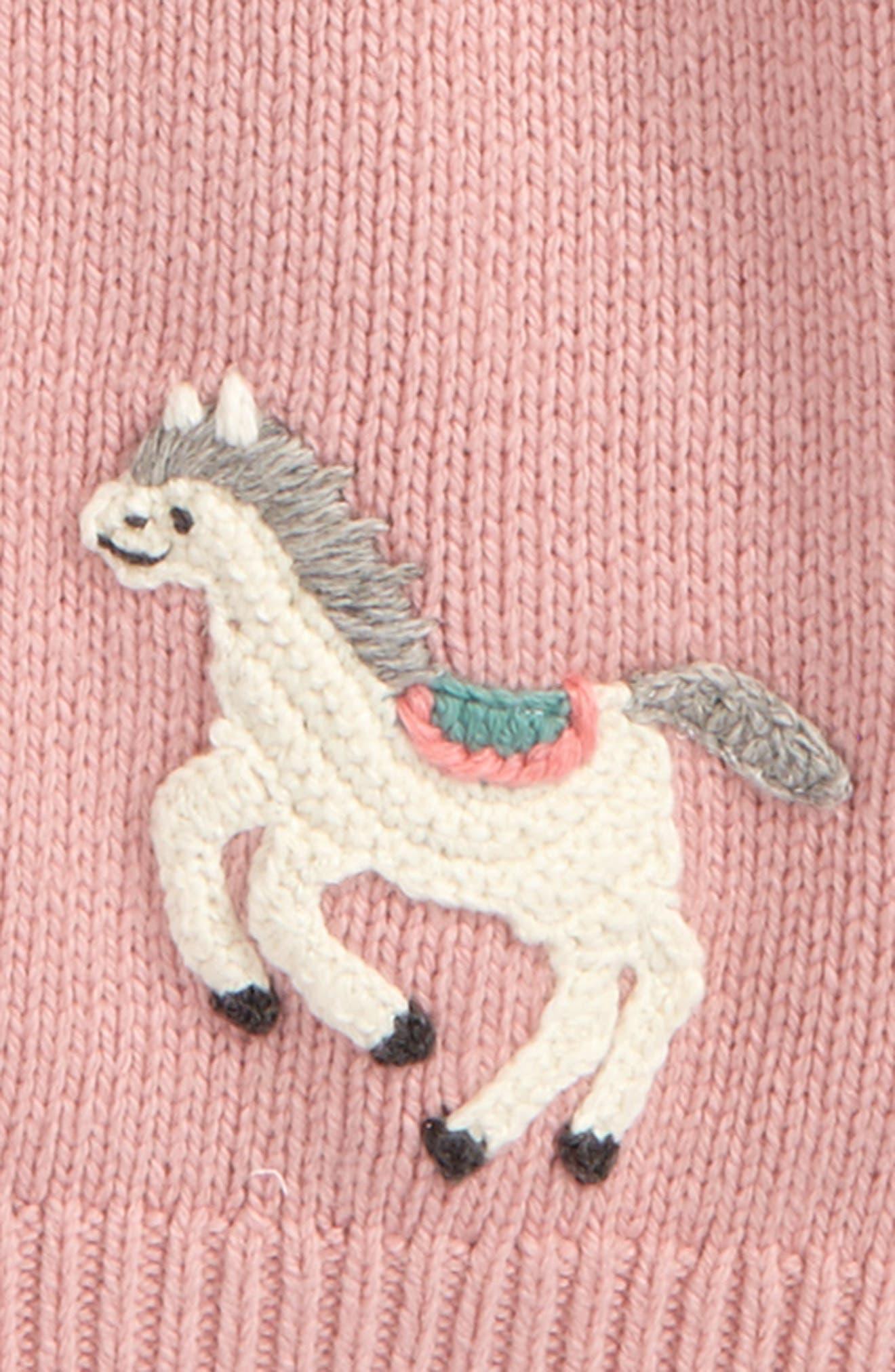 Crochet Pony Cardigan,                             Alternate thumbnail 2, color,                             Pink Almond Blossom