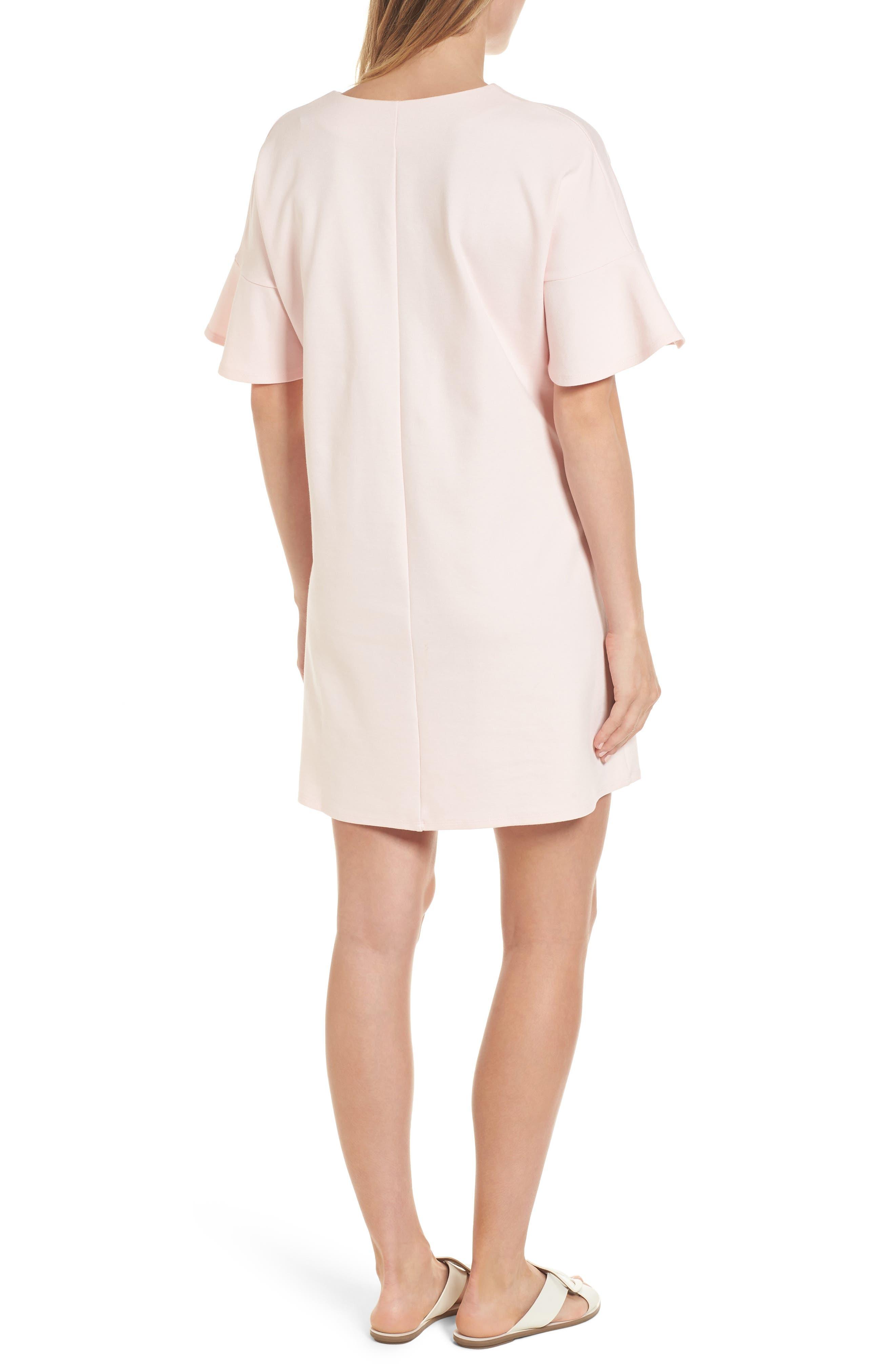 Reese Ponte Maternity Dress,                             Alternate thumbnail 2, color,                             Soft Blush