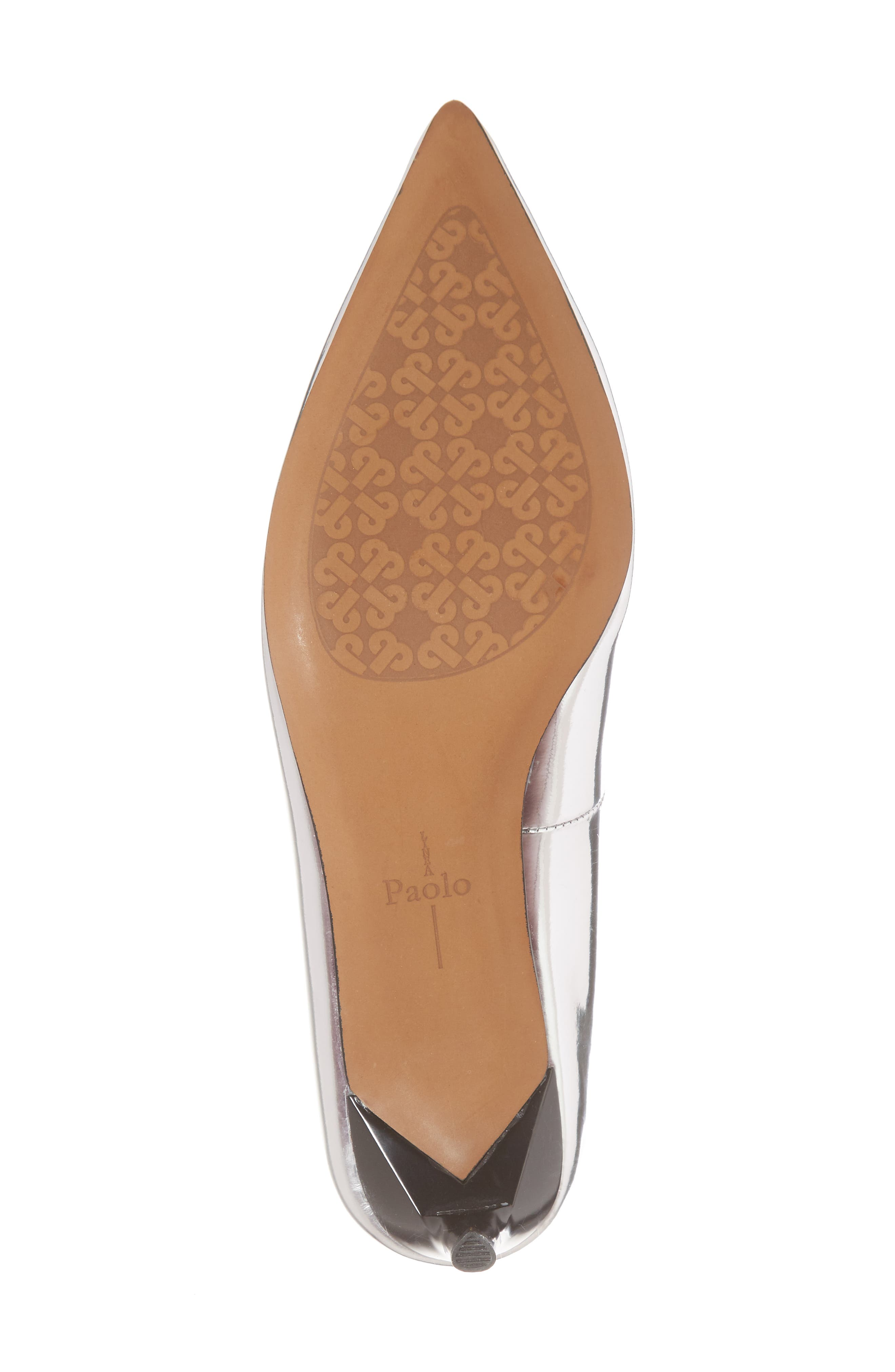 Petra Pointy Toe Pump,                             Alternate thumbnail 6, color,                             Silver Leather