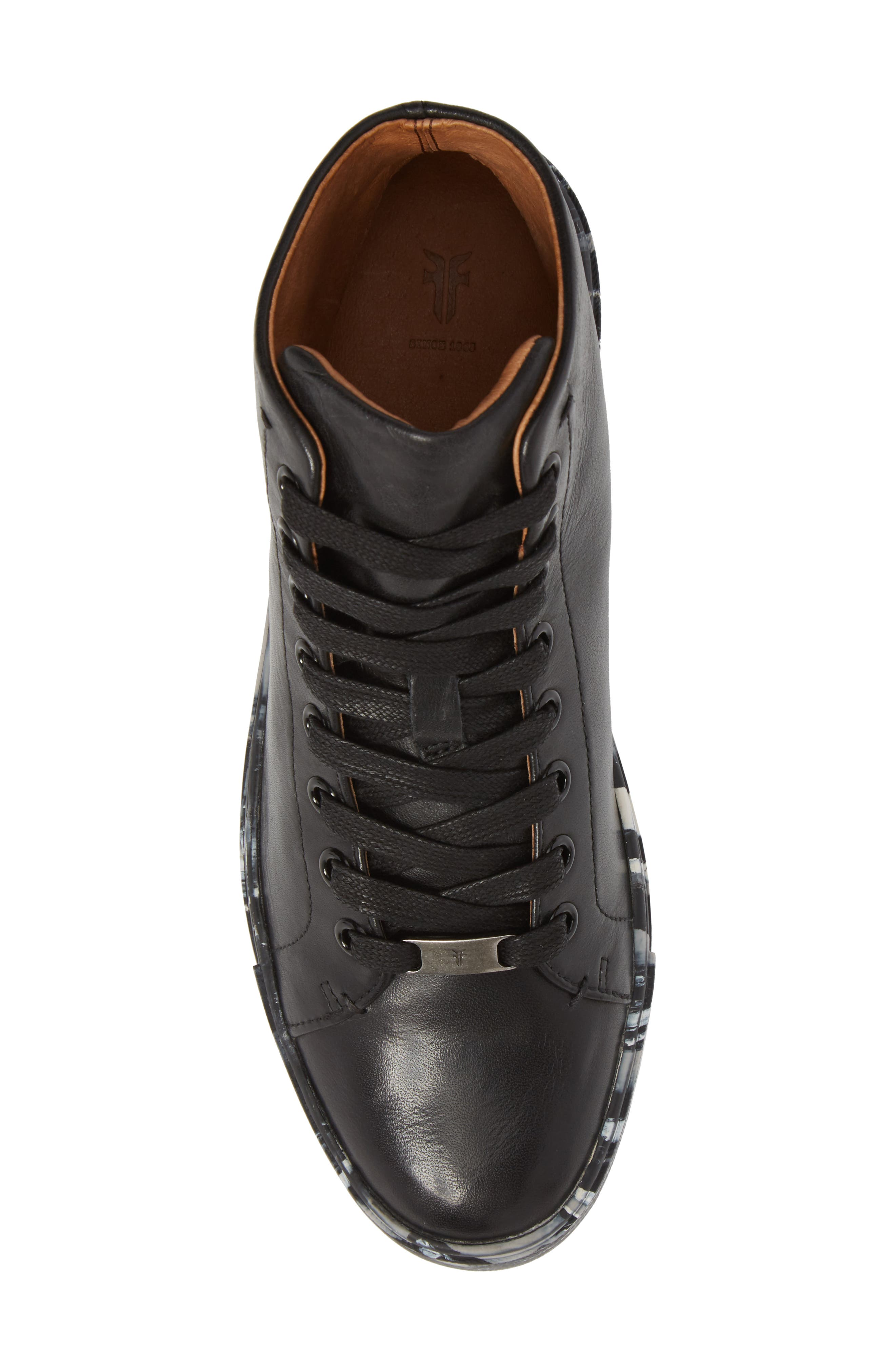 Ivy High Top Sneaker,                             Alternate thumbnail 5, color,                             Black Leather