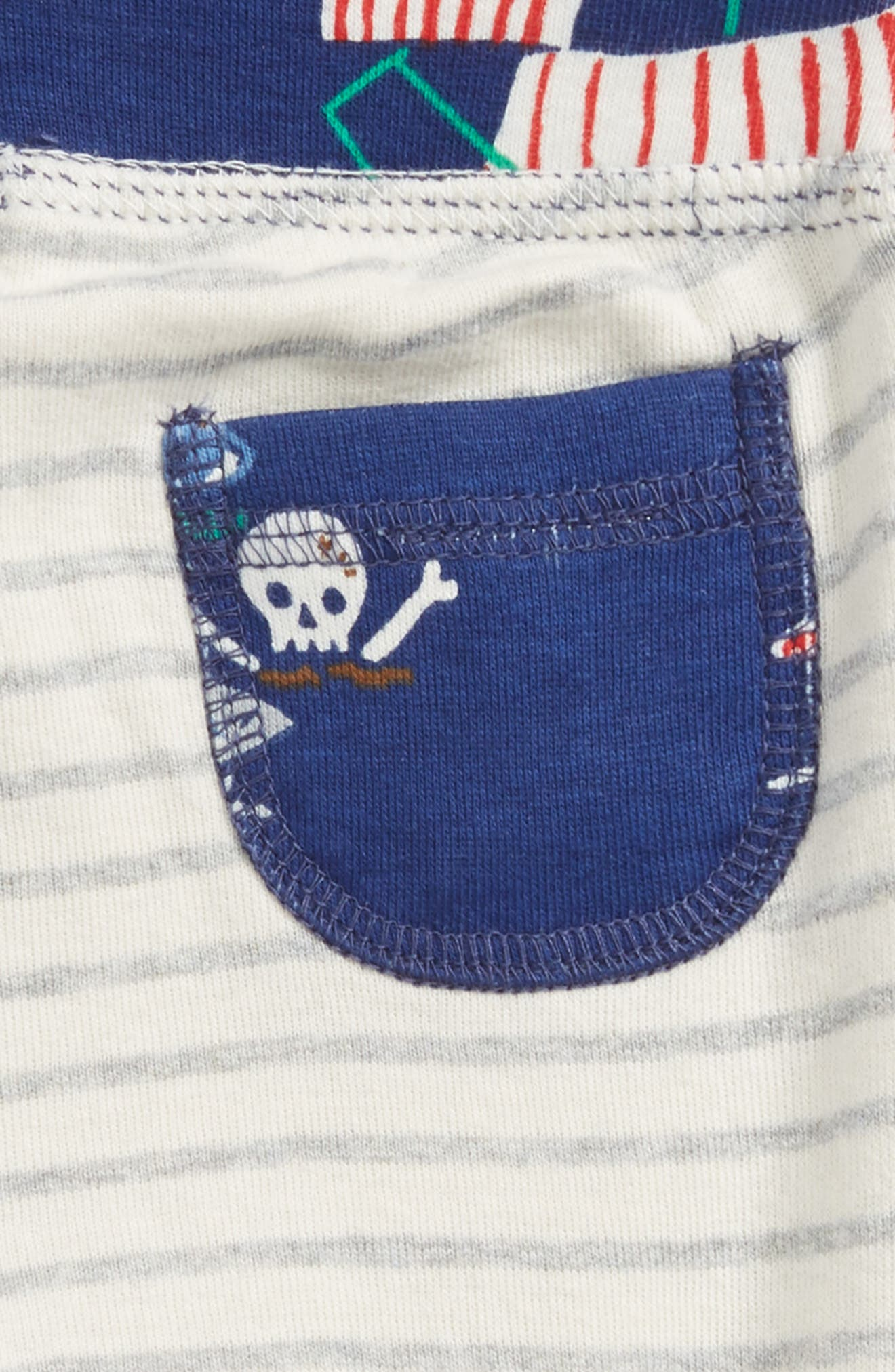 Reversible Knee Patch Pants,                             Alternate thumbnail 4, color,                             Beacon Blue/ Pirate Ship
