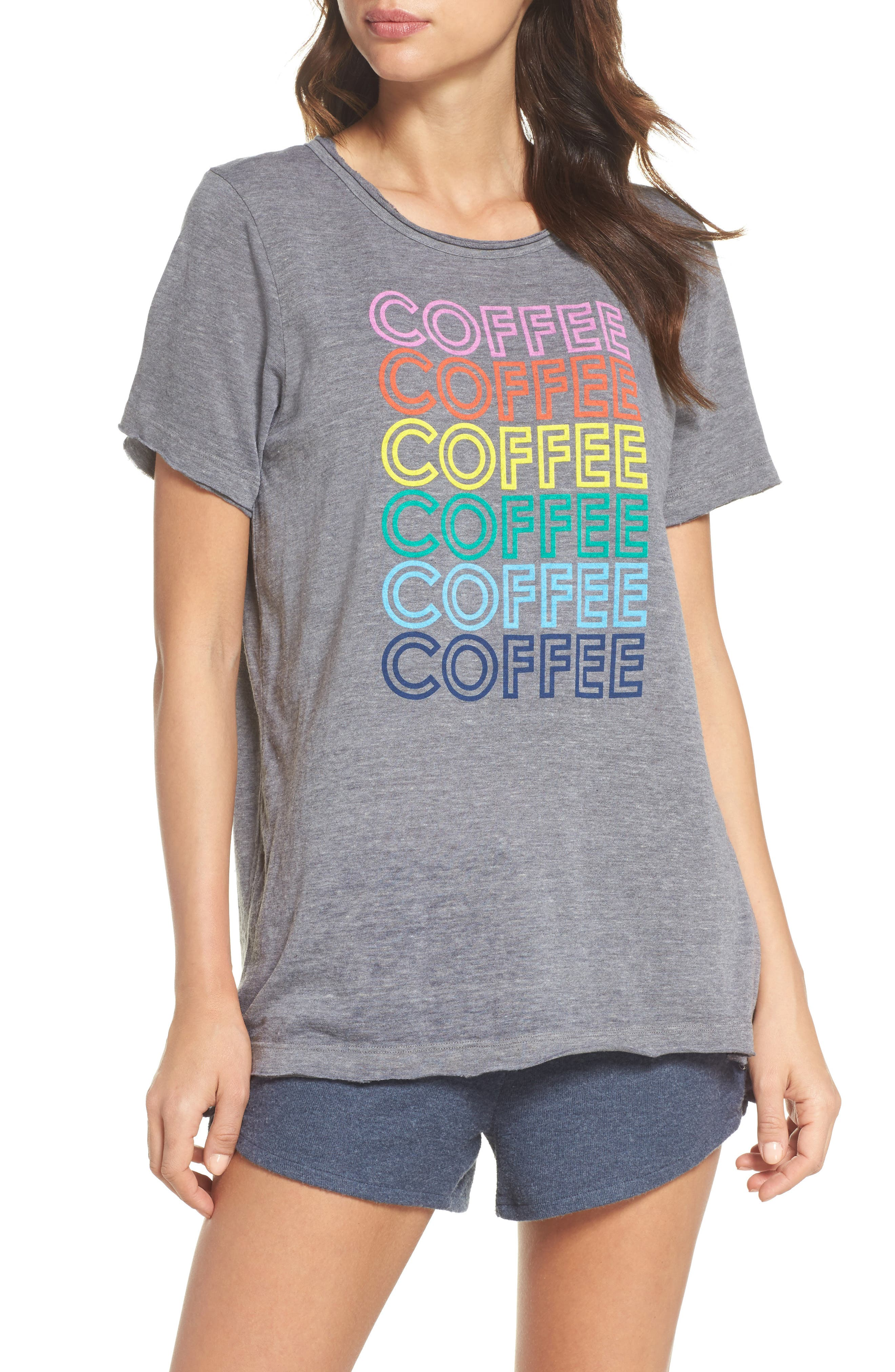 Coffee Tee,                         Main,                         color, Streaky Grey