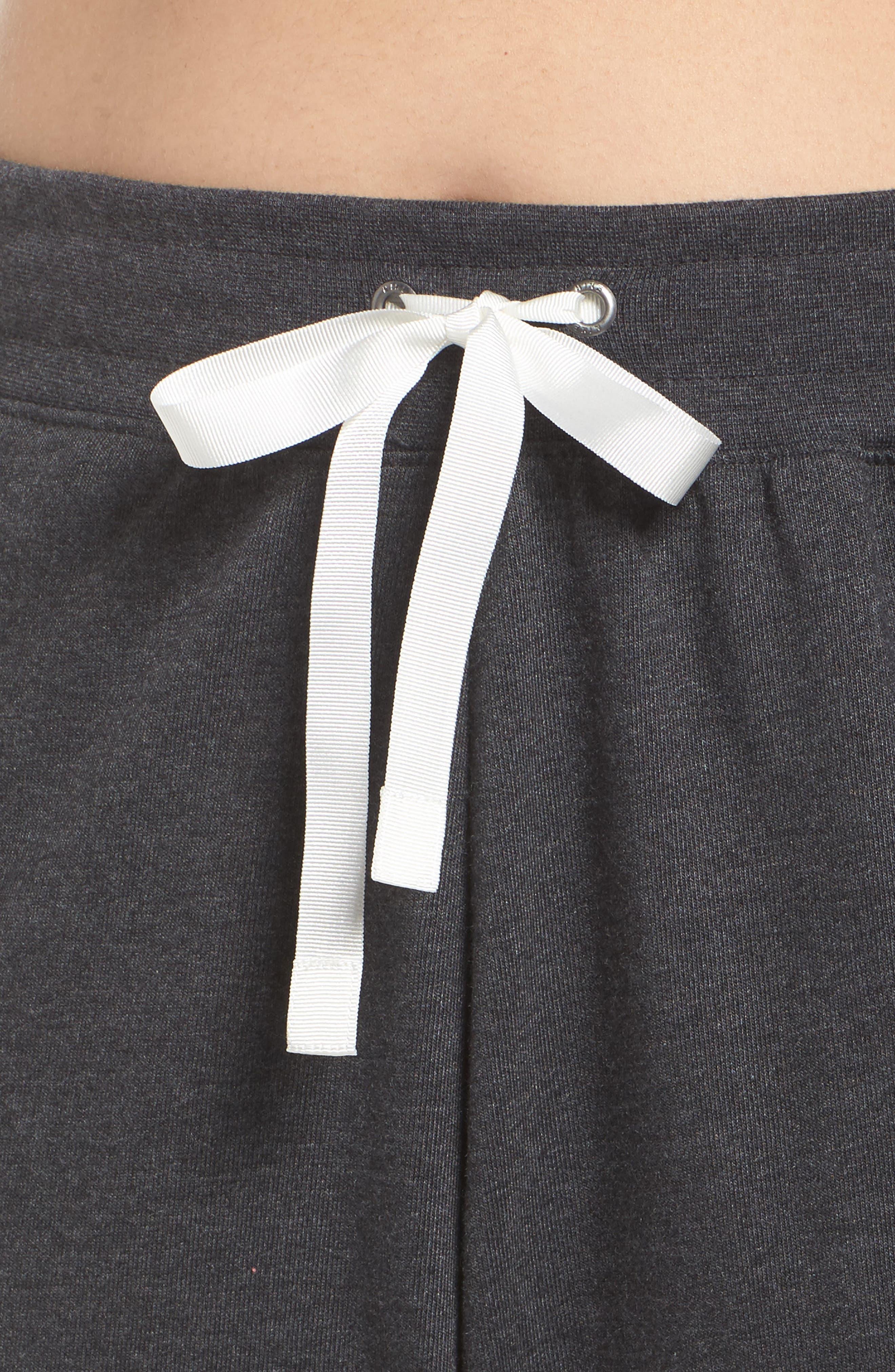 Sportswear Gym Capris,                             Alternate thumbnail 4, color,                             Black Heather/ Sail