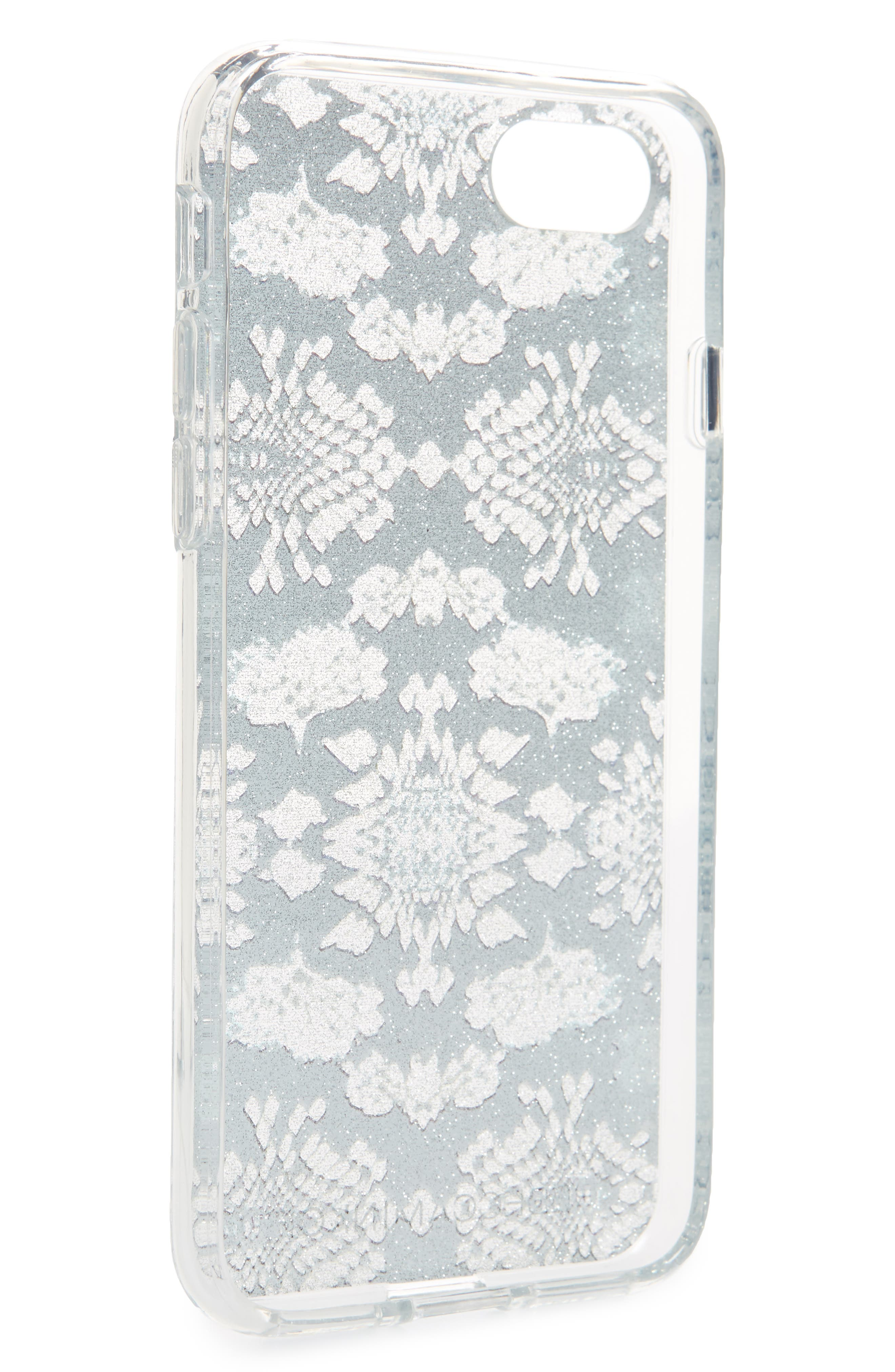 Glitter Snakeskin Print iPhone 7/8 & 7/8 Plus Case,                             Alternate thumbnail 2, color,                             Multi Glitter