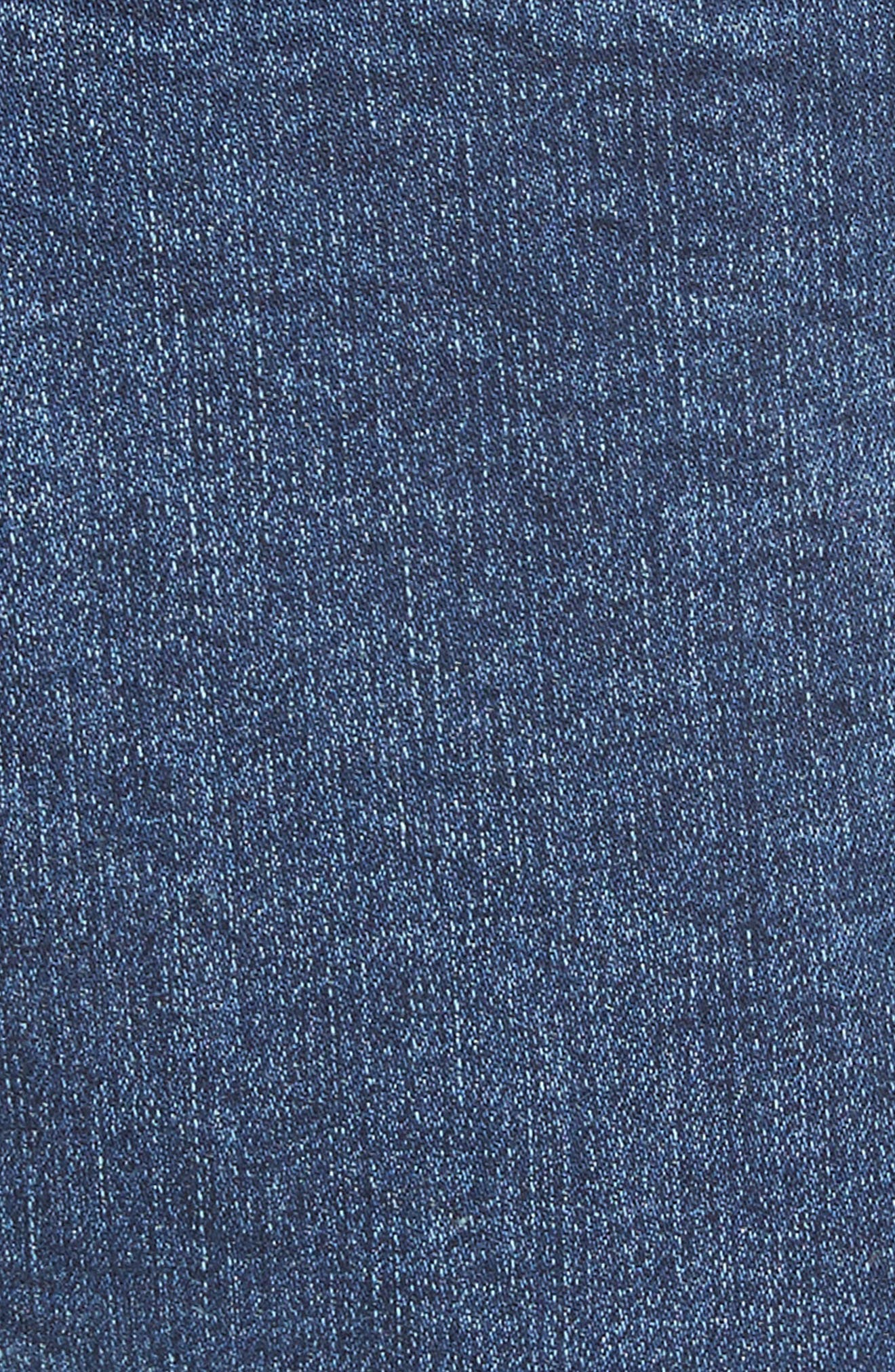Lace-Up High Waist Denim Leggings,                             Alternate thumbnail 5, color,                             Blue