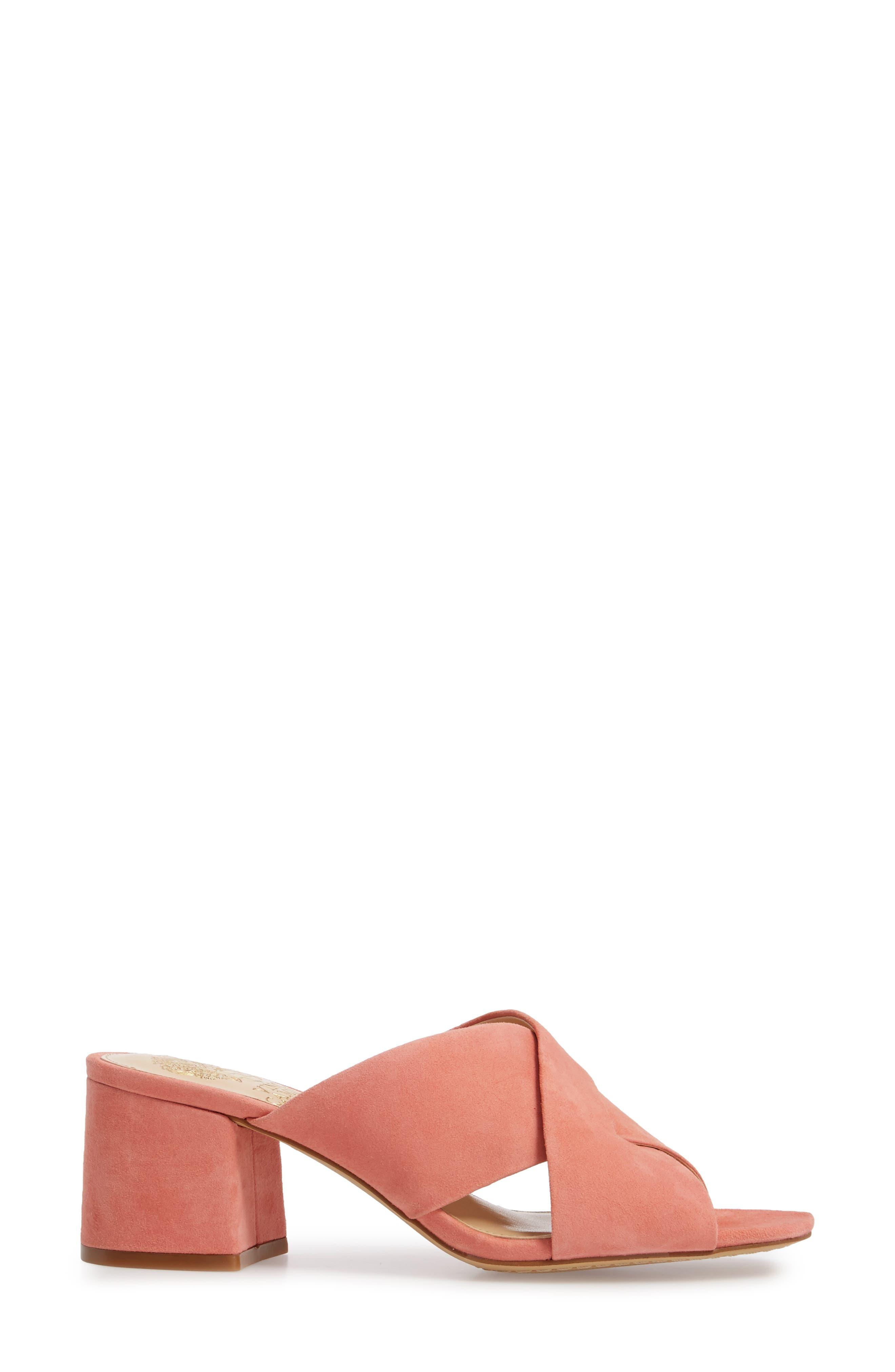 Stania Sandal,                             Alternate thumbnail 3, color,                             Fancy Flamingo Suede