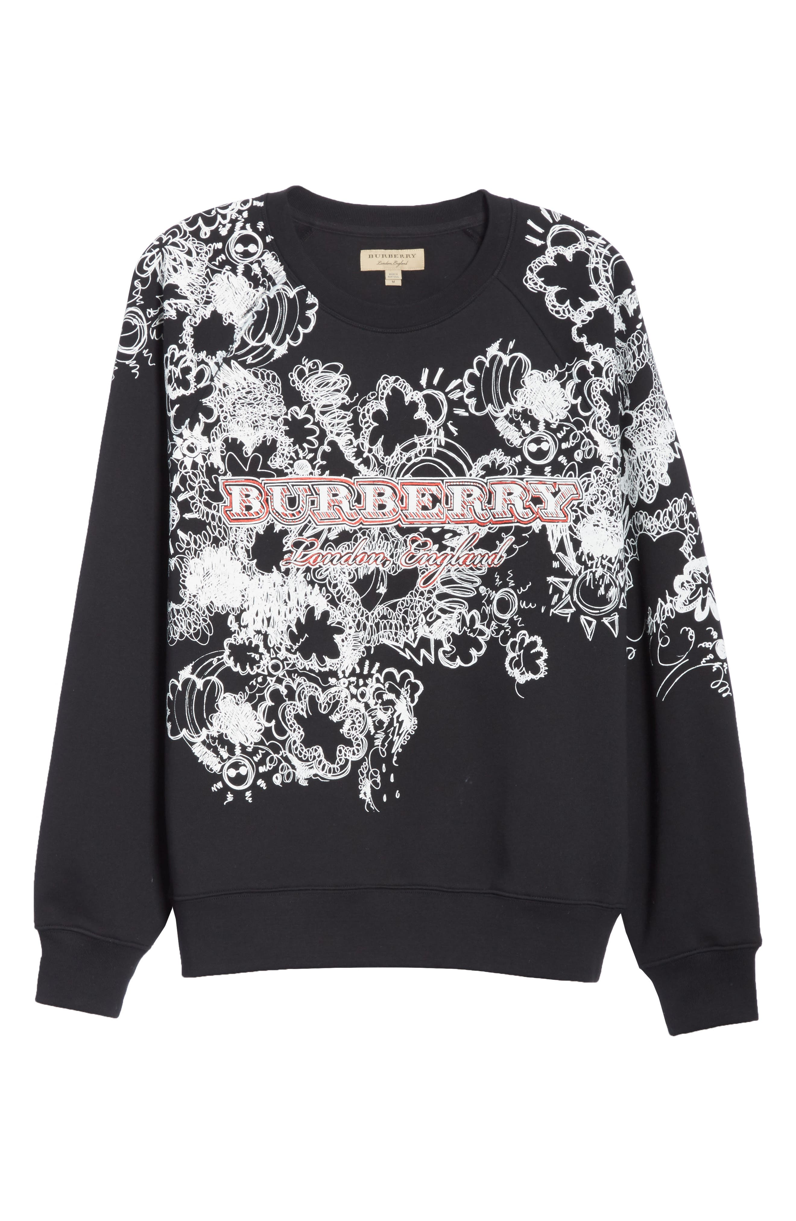 Barford Crewneck Sweatshirt,                             Alternate thumbnail 6, color,                             Black