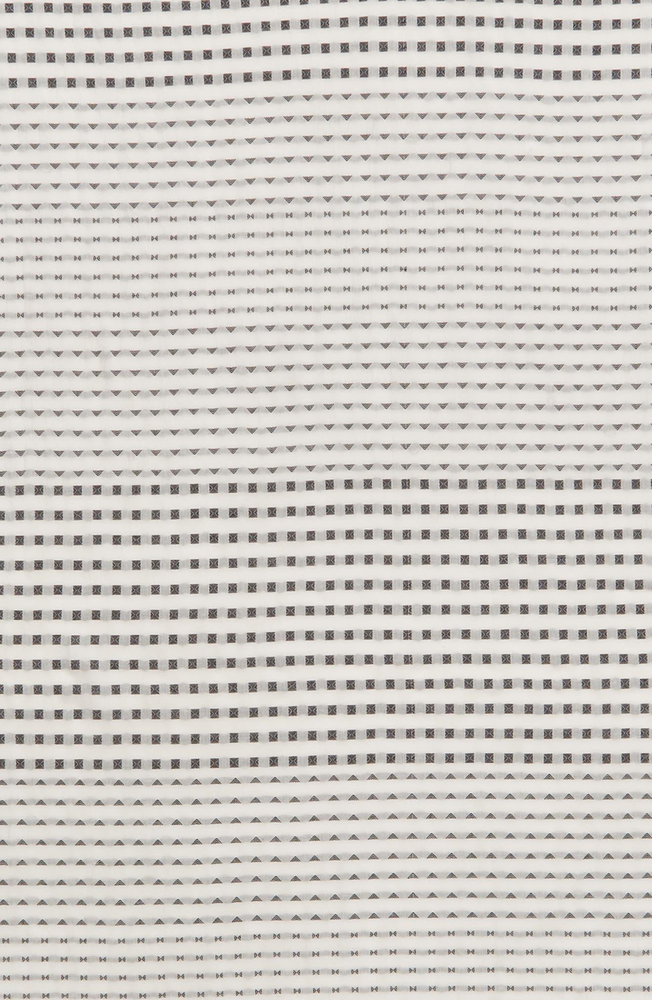 Clip Dot Jacquard Cotton Scarf,                             Alternate thumbnail 4, color,                             White