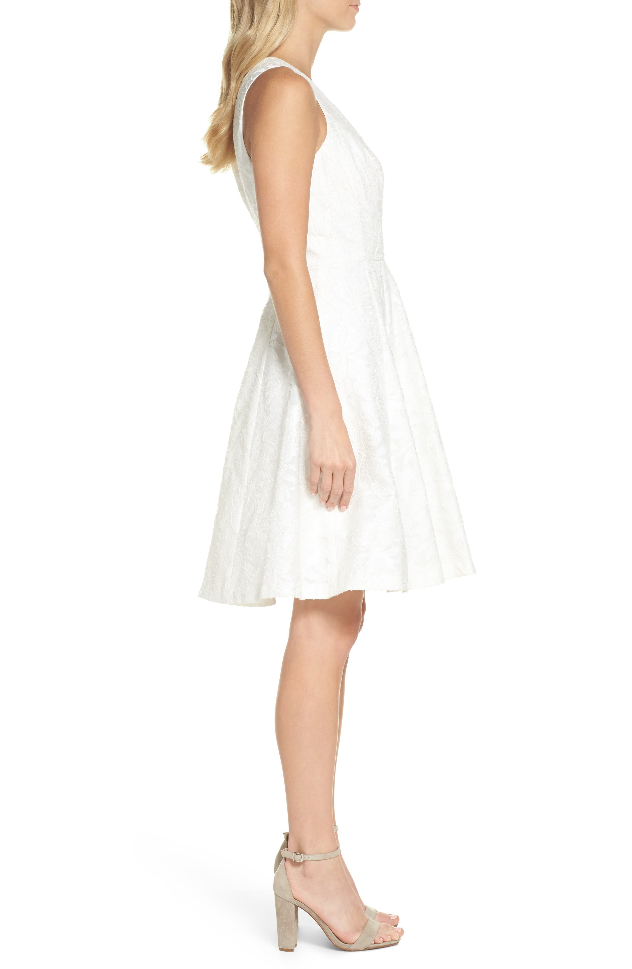 Alternate Image 3  - Maggy London Floral Burnout Fit & Flare Dress (Regular & Petite)