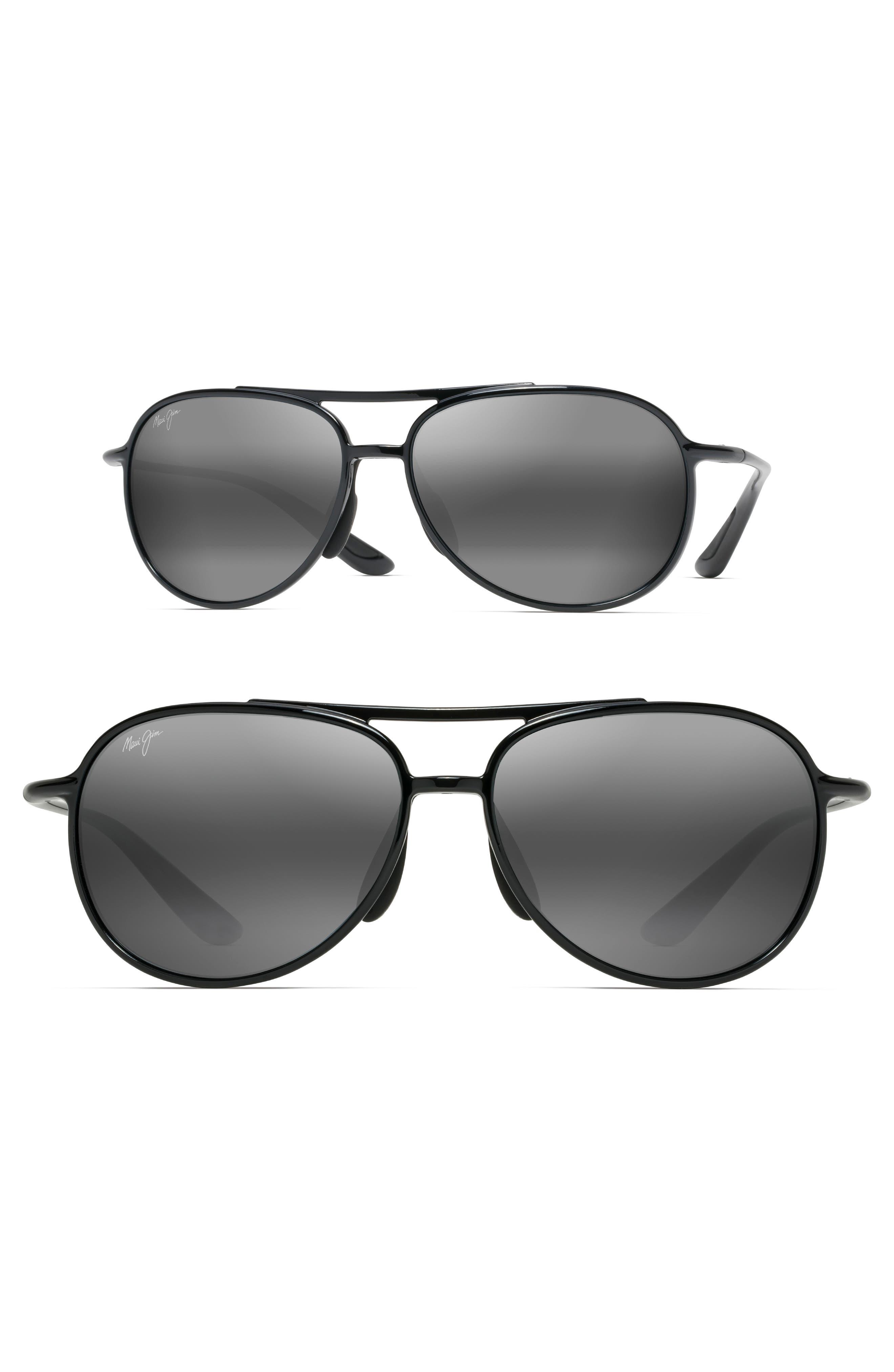 Maui Jim Alelele 60mm Aviator Sunglasses