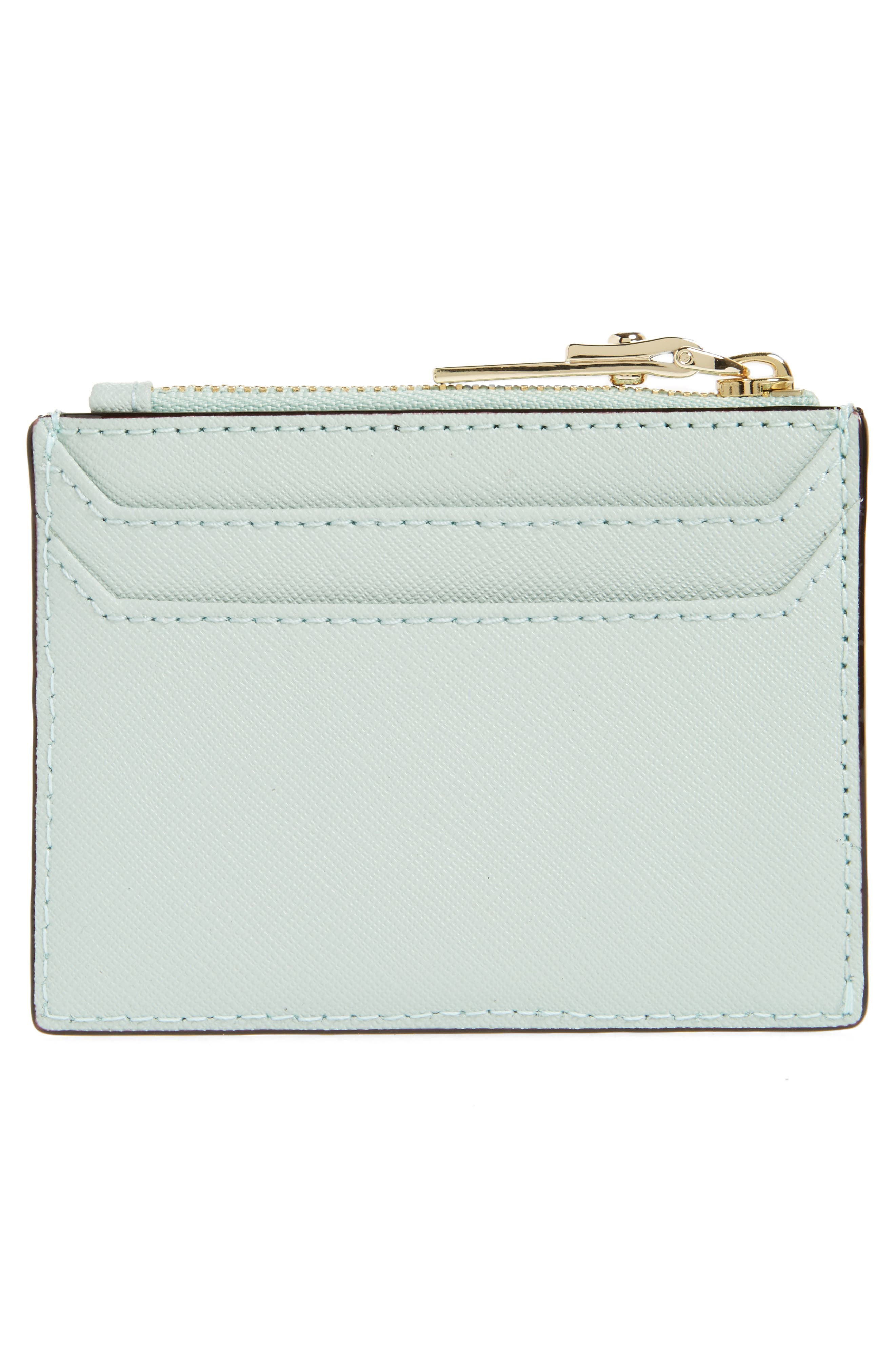 cameron street - lalena leather card case,                             Alternate thumbnail 2, color,                             Misty Mint