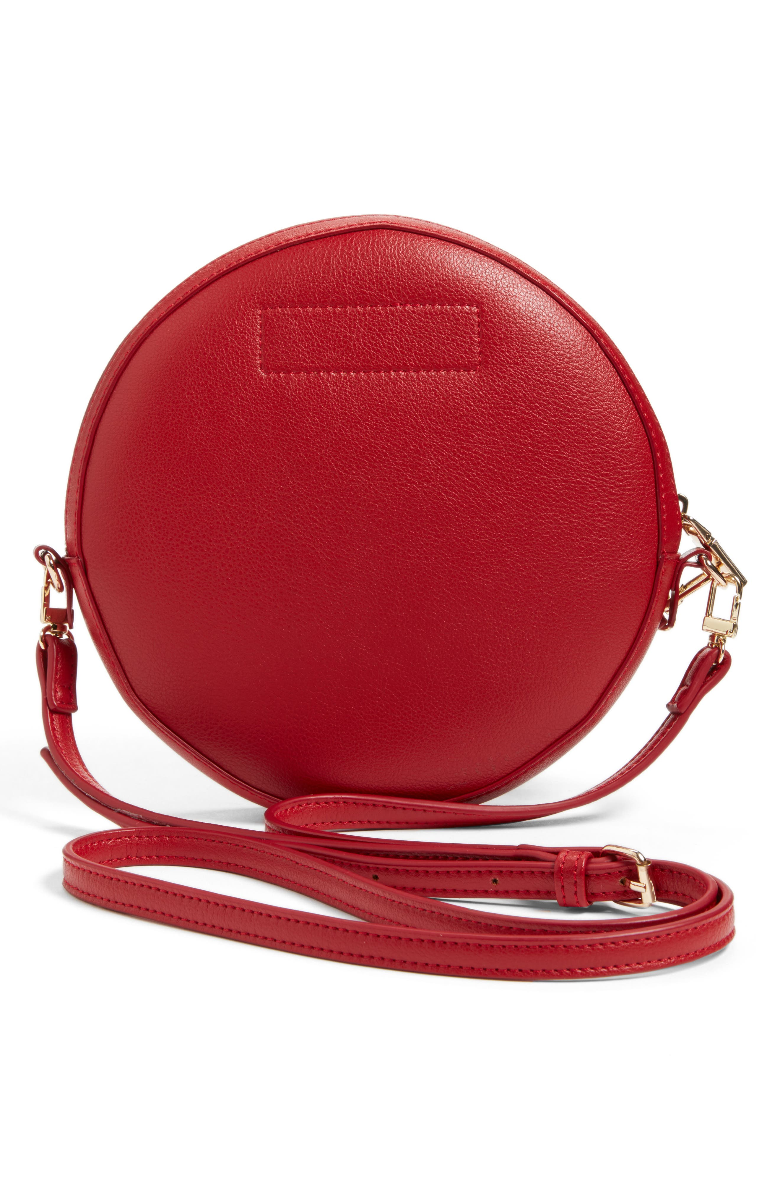 Smooth Circle Crossbody,                             Alternate thumbnail 3, color,                             Cherry Red
