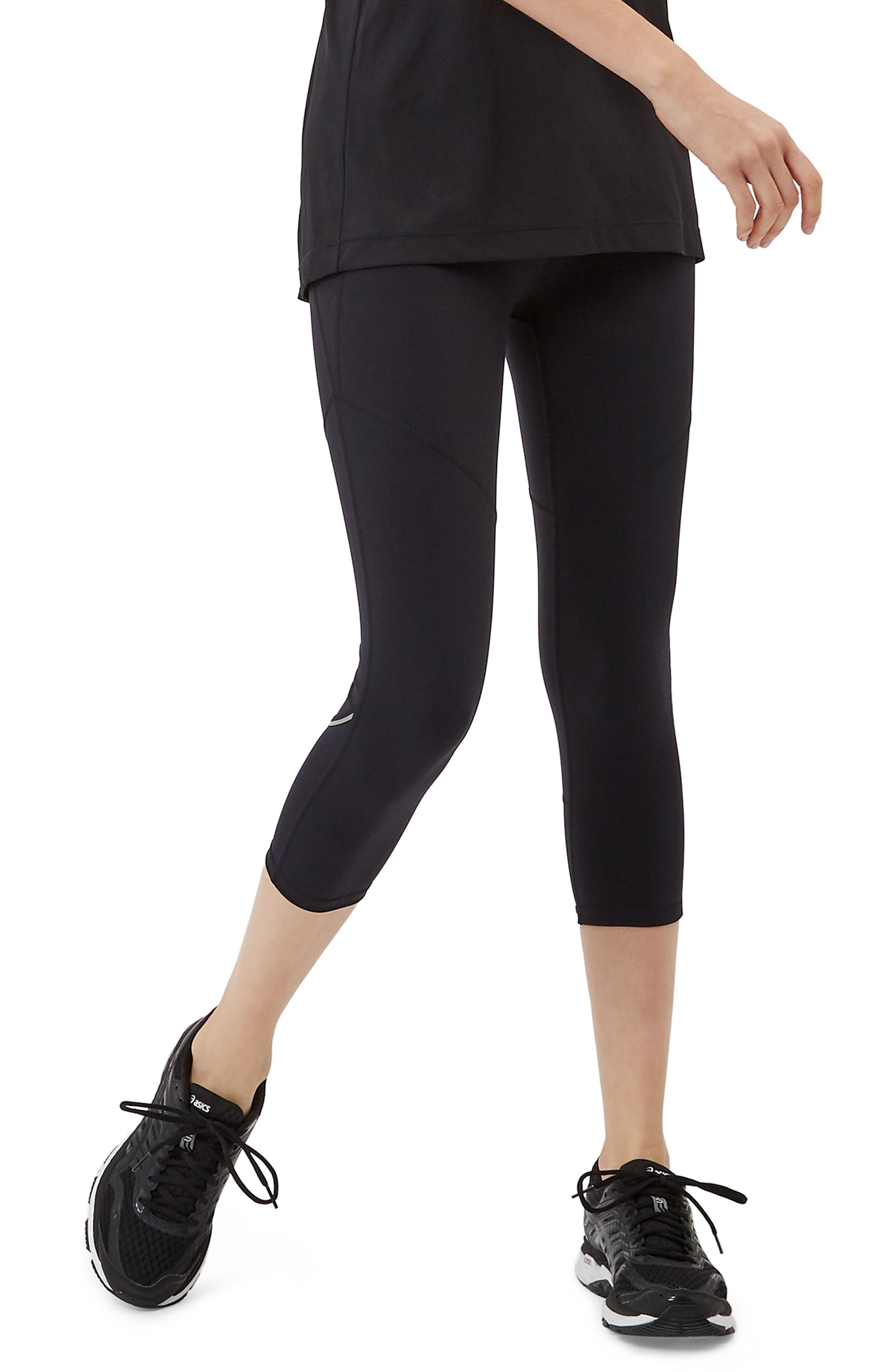 Power Workout Crop Leggings,                         Main,                         color, Black