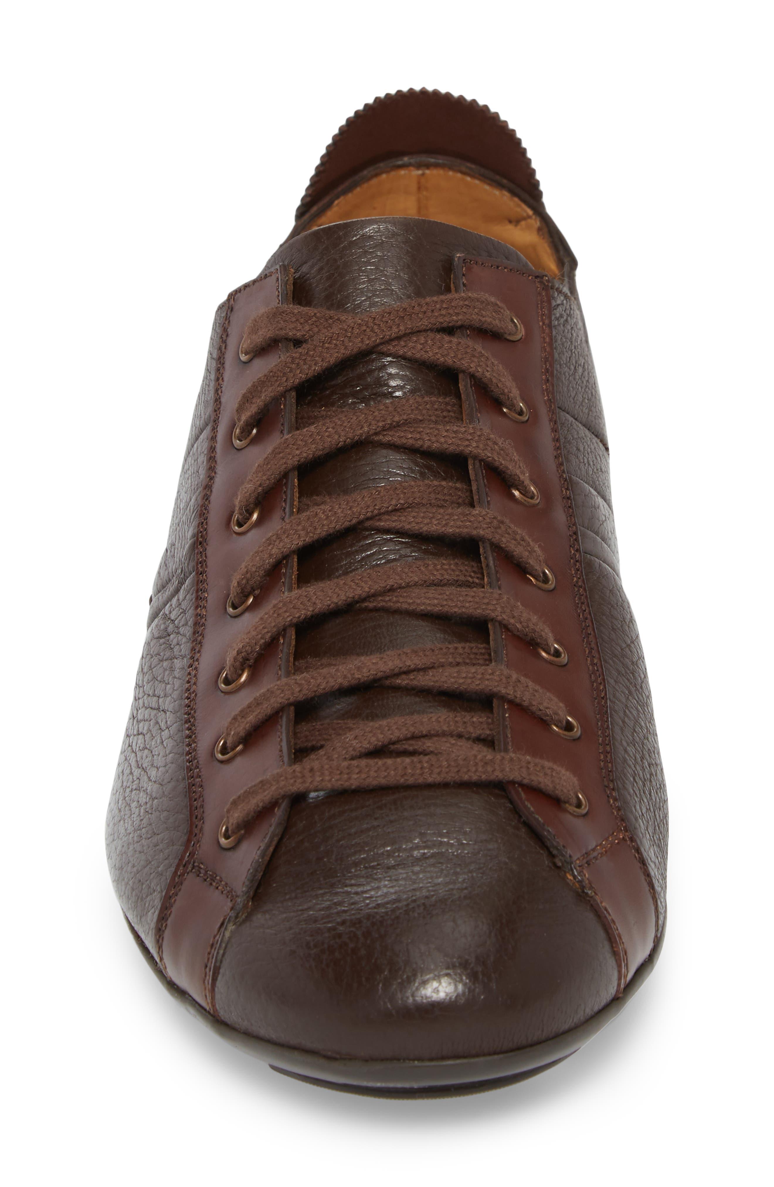 Tiberio Sneaker,                             Alternate thumbnail 4, color,                             Brown