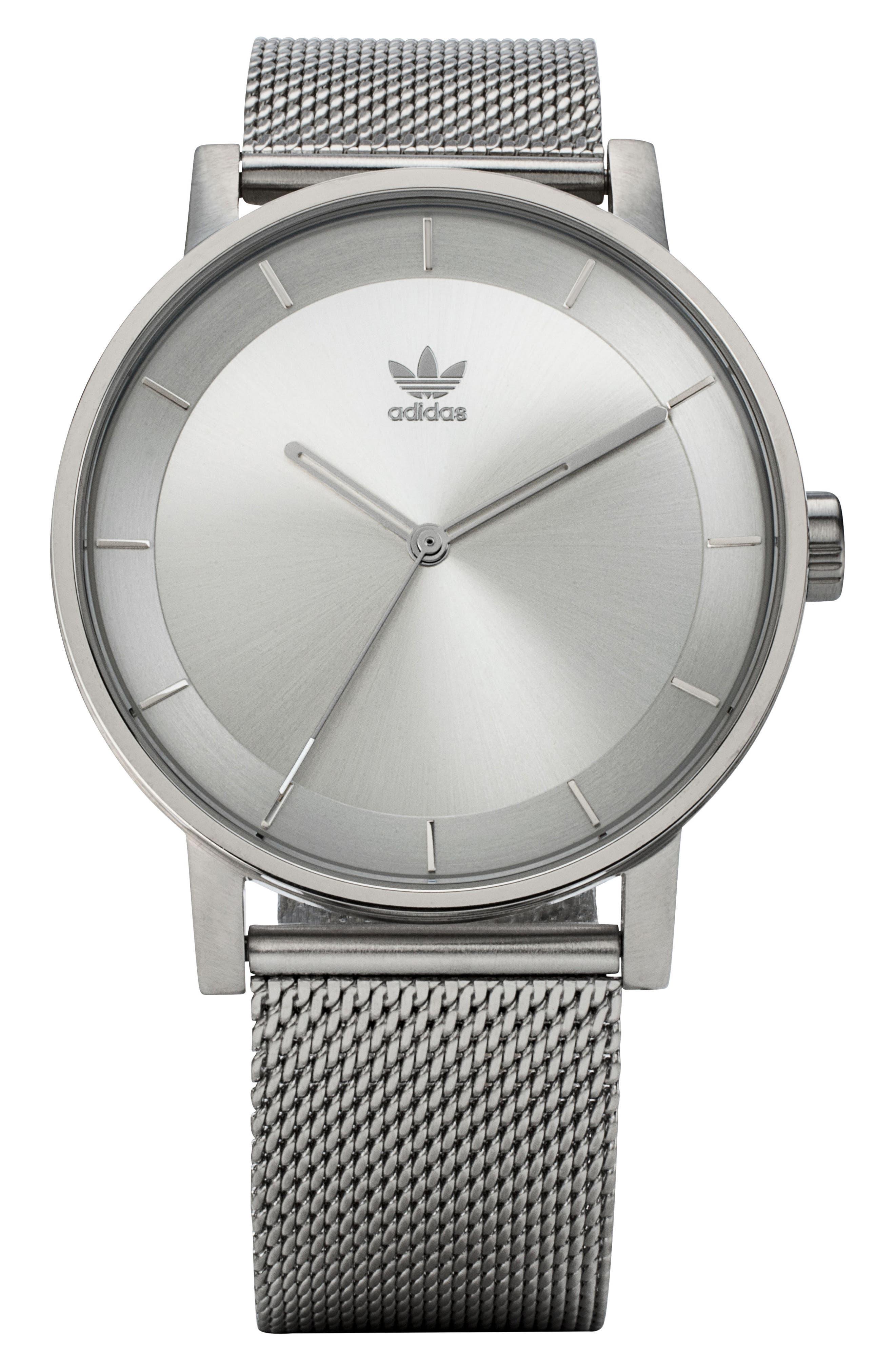 District Milanese Bracelet Watch, 40mm,                         Main,                         color, Silver