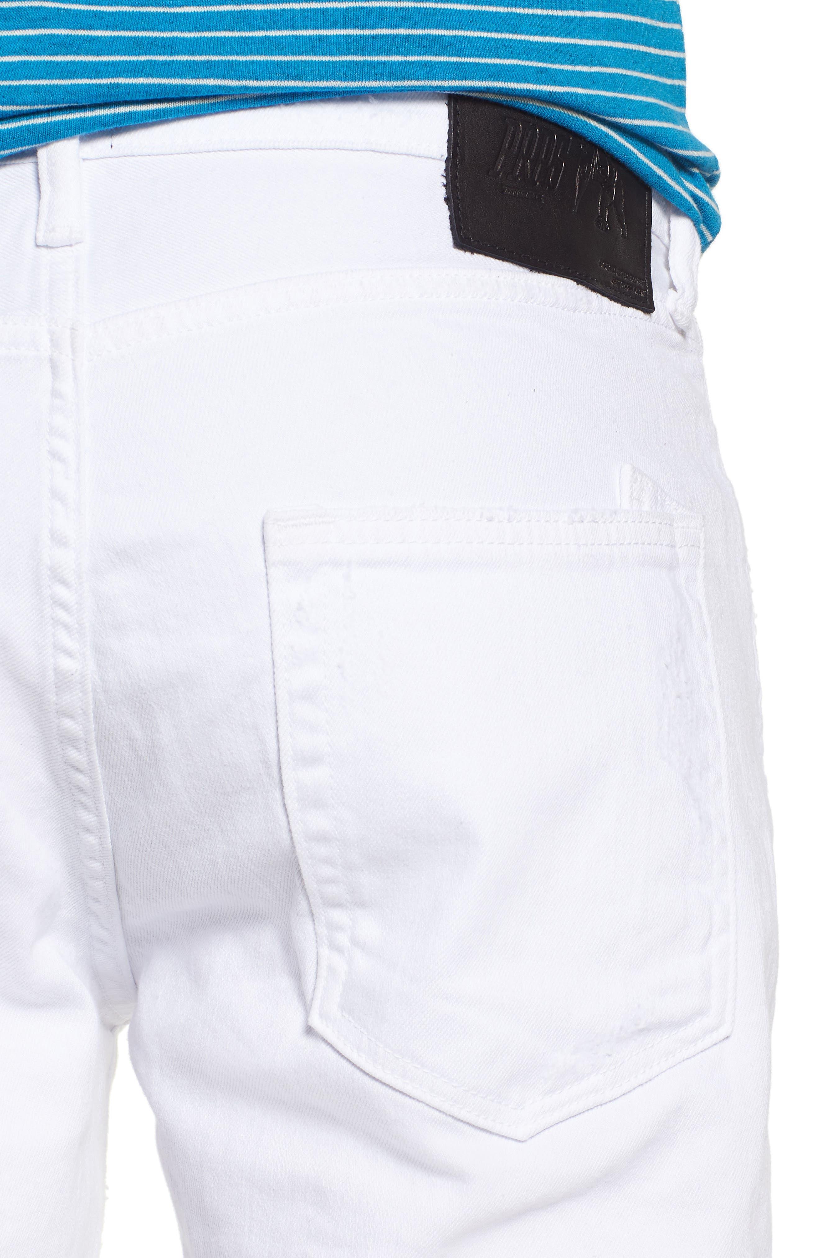 Windsor Slim Fit Jeans,                             Alternate thumbnail 4, color,                             Living White