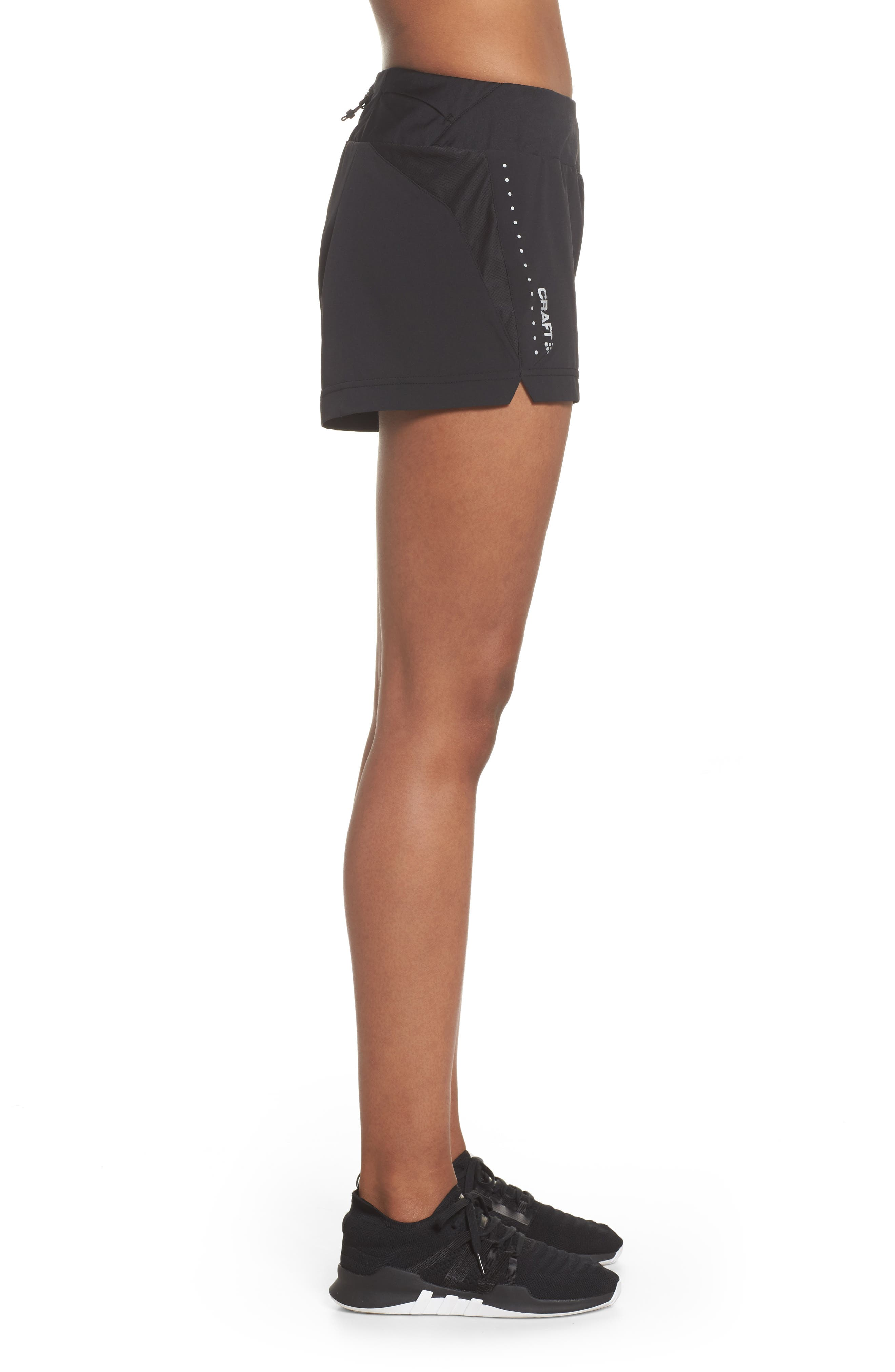 Essential Running Shorts,                             Alternate thumbnail 6, color,                             Black