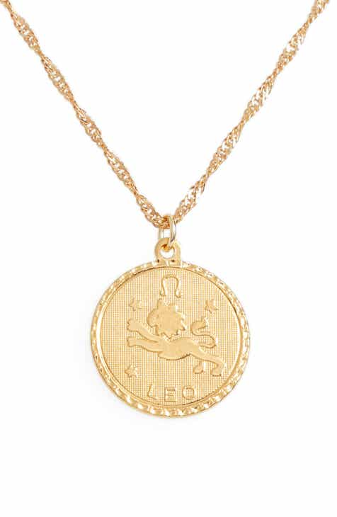 c5ec16445af246 Cam Jewelry Ascending Zodiac Medallion Necklace