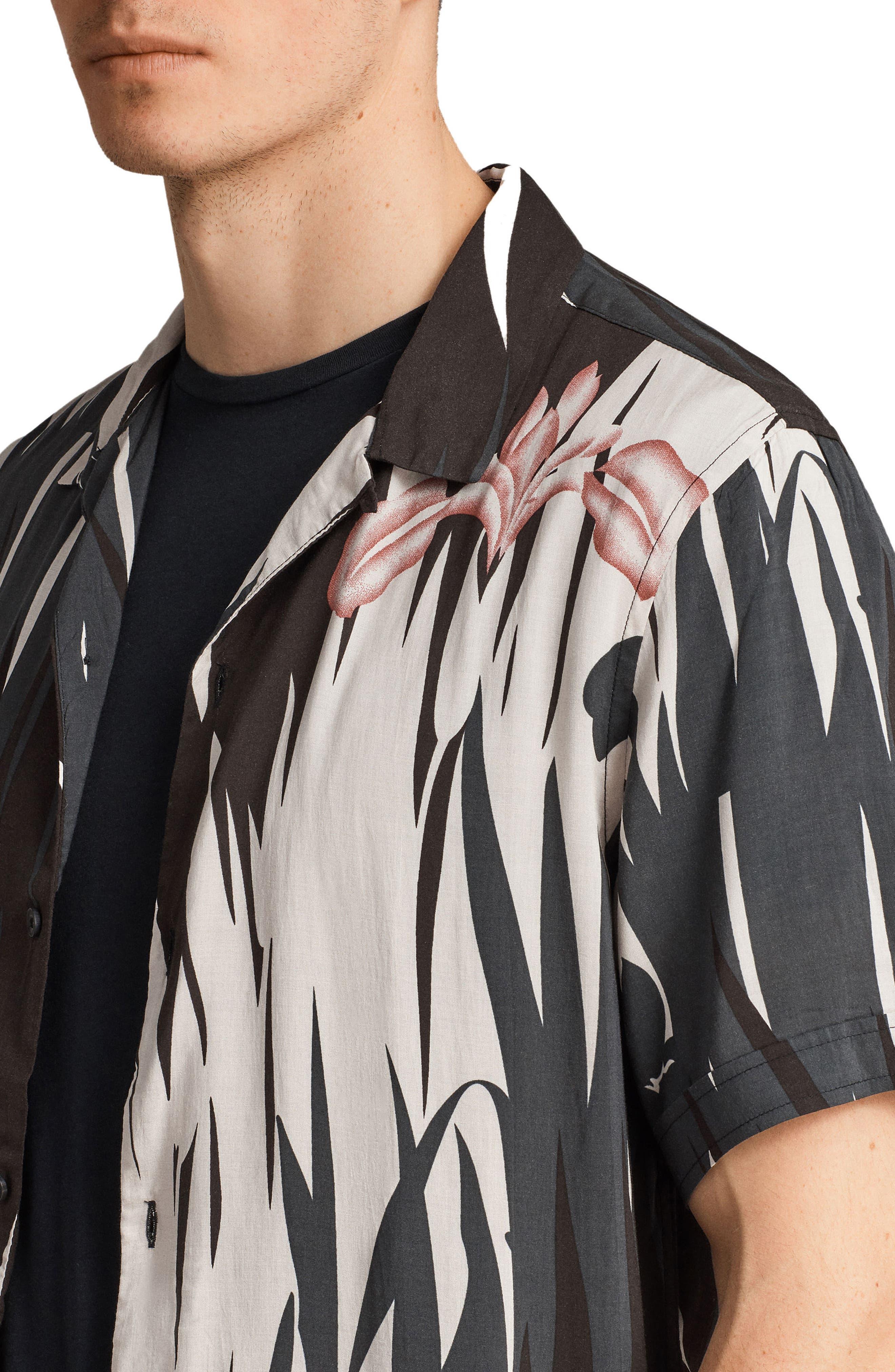 Nahiku Slim Fit Sport Shirt,                             Alternate thumbnail 3, color,                             Black