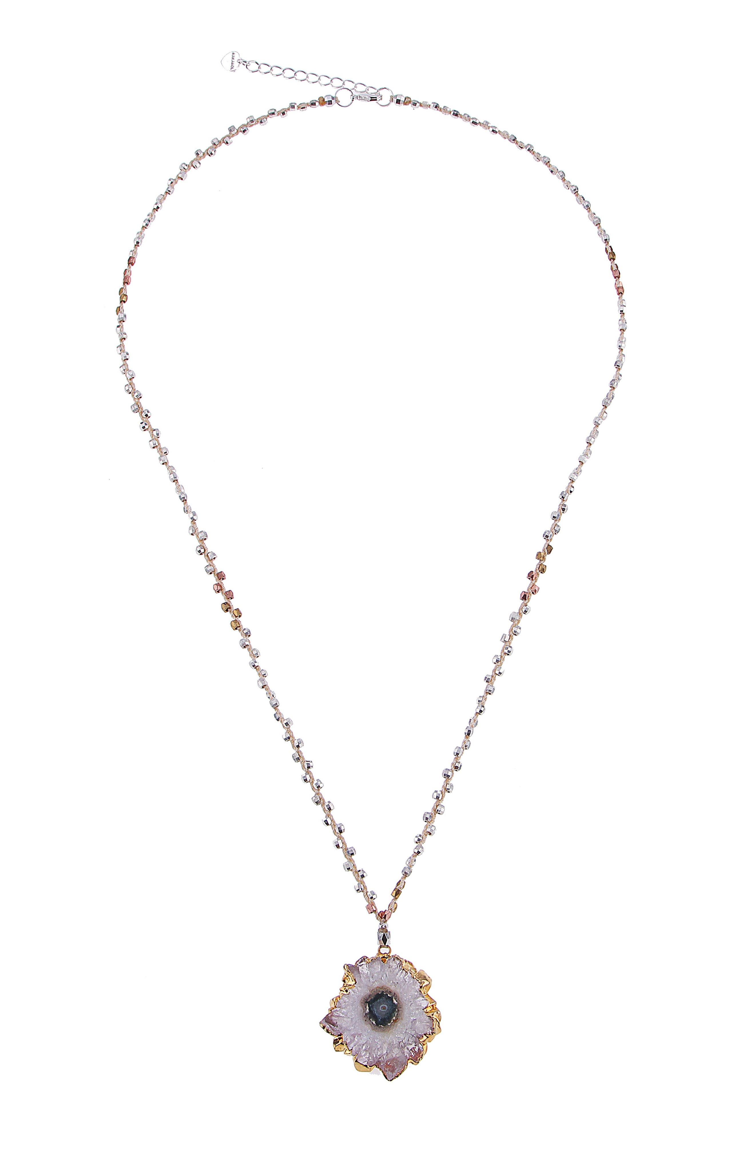 Cote Amethyst Pendant Necklace,                             Main thumbnail 1, color,                             Clear