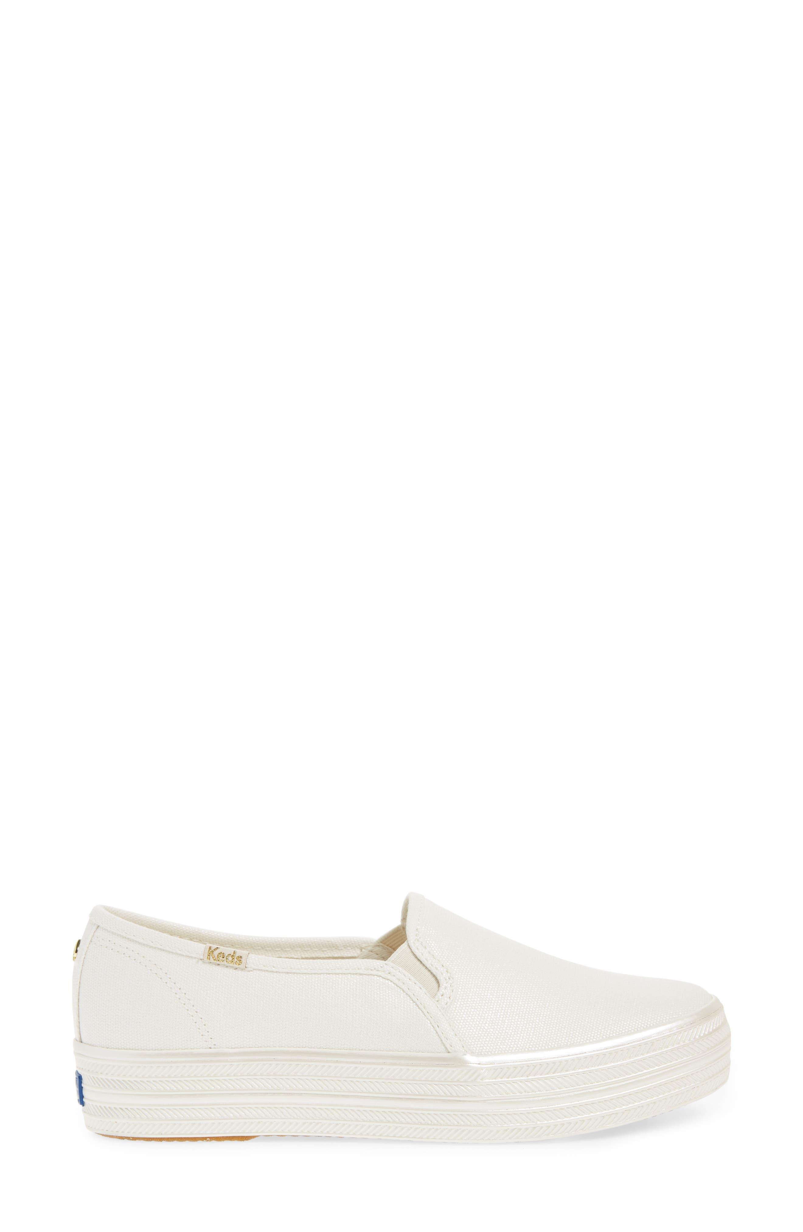 Alternate Image 3  - Keds® for kate spade new york triple decker slip-on platform sneaker (Women)