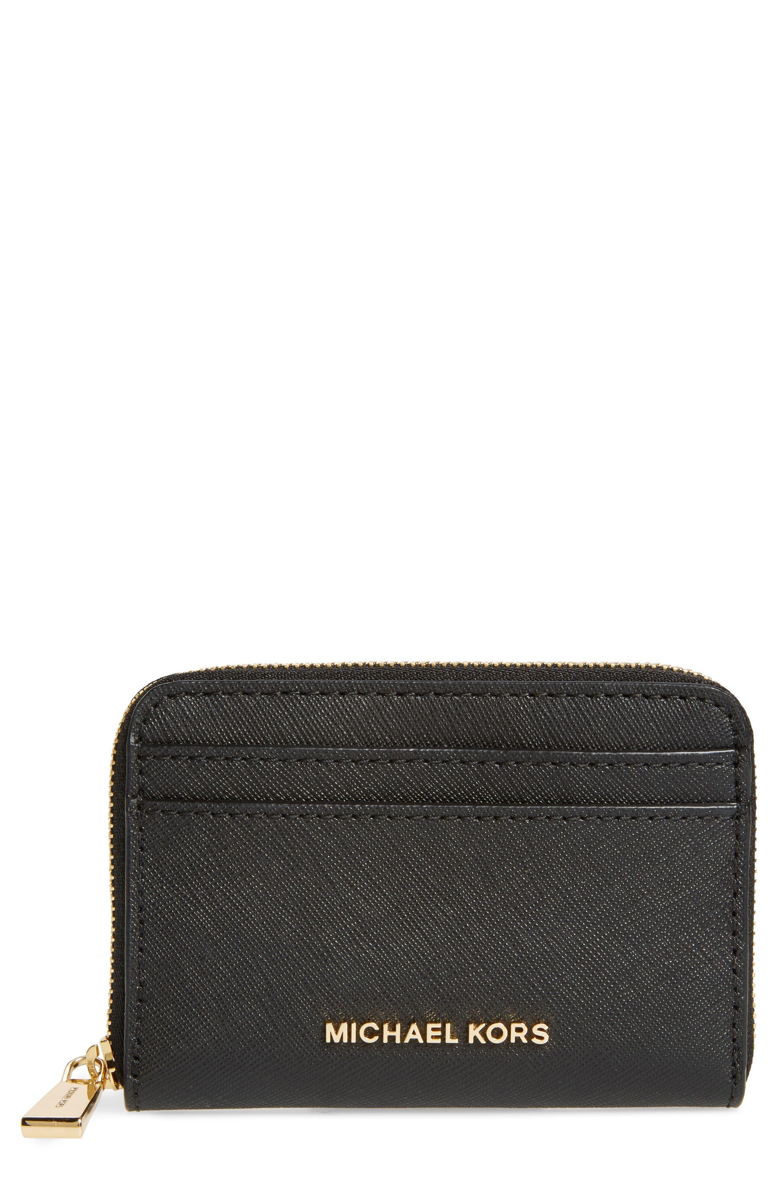 Za Card Holder,                             Main thumbnail 1, color,                             Black