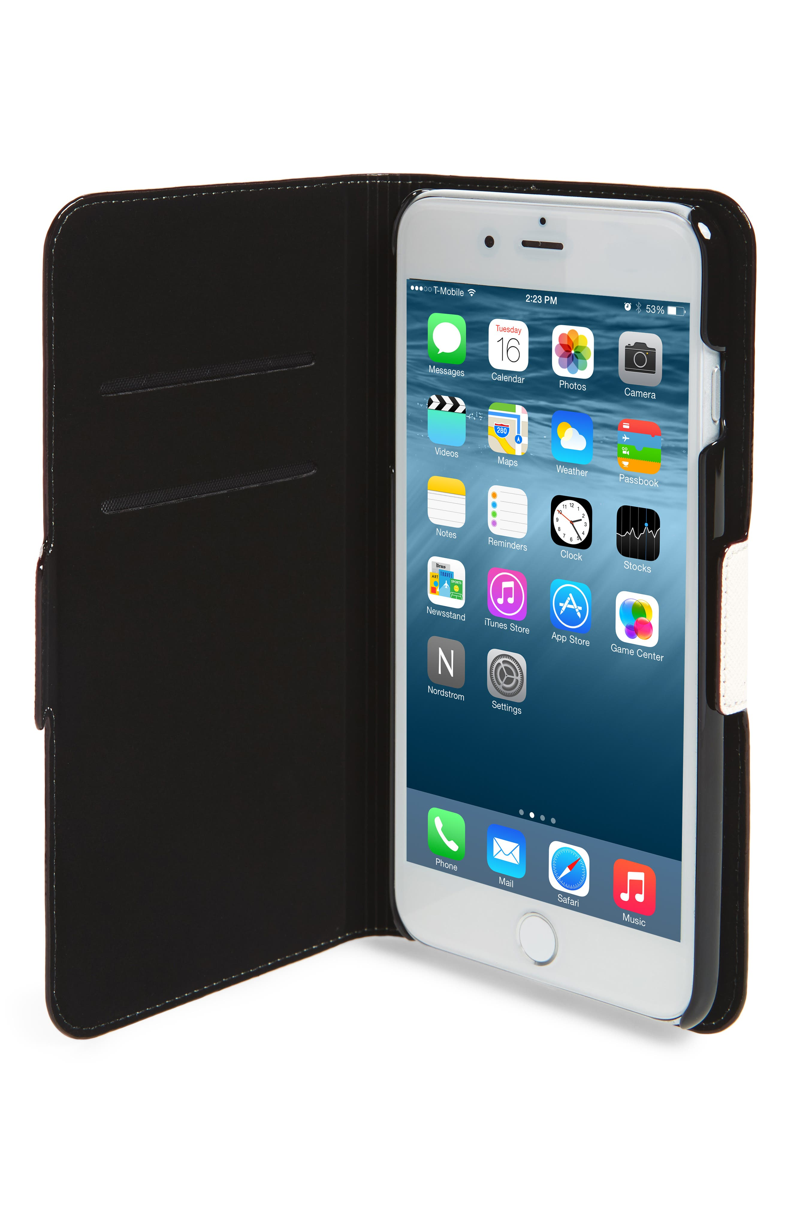 see you later leather iPhone 7/8 & 7/8 Plus folio case,                             Alternate thumbnail 3, color,                             Multi