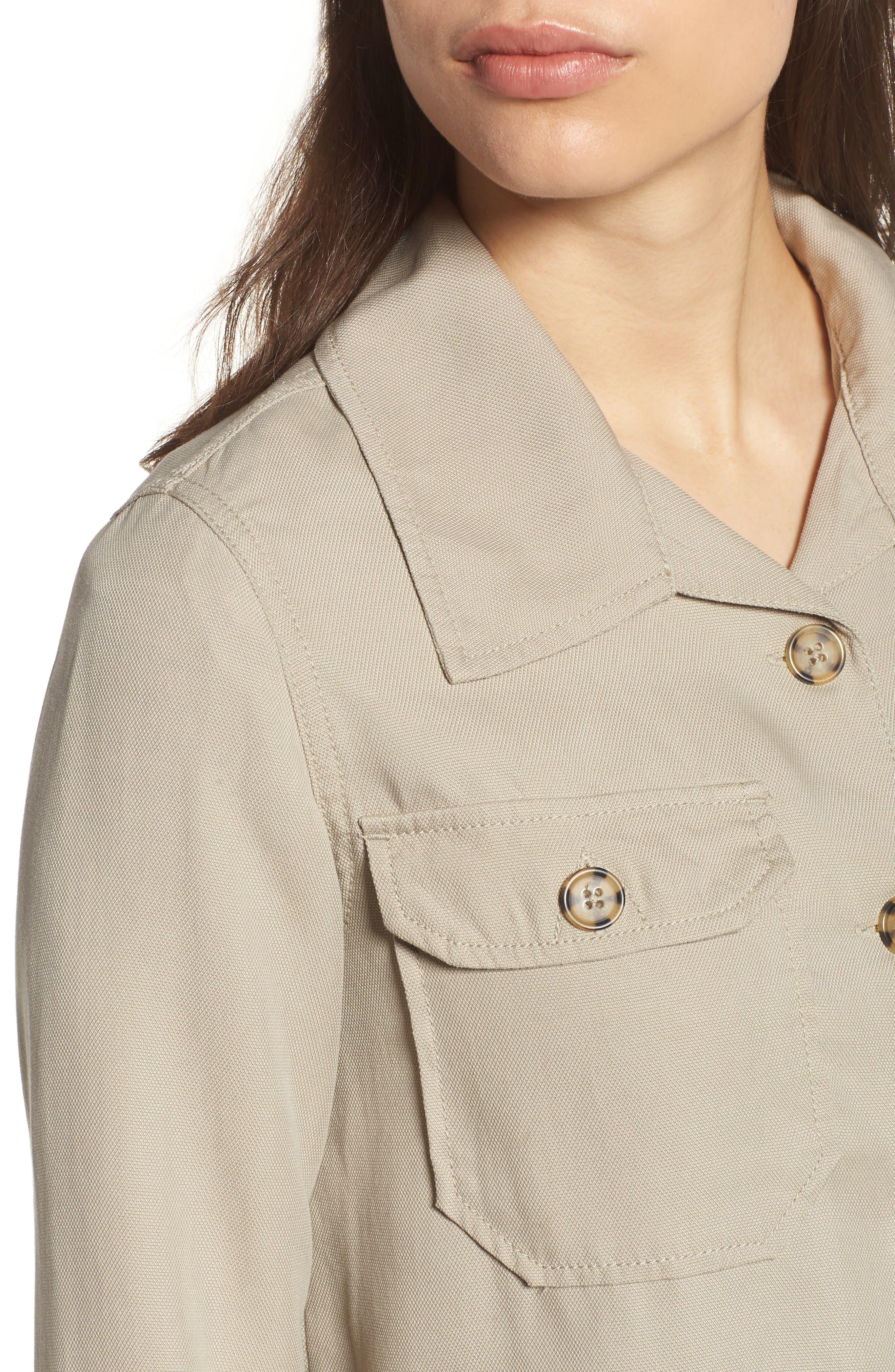 Flyaway Shirt Jacket,                             Alternate thumbnail 4, color,                             Chateau Gray