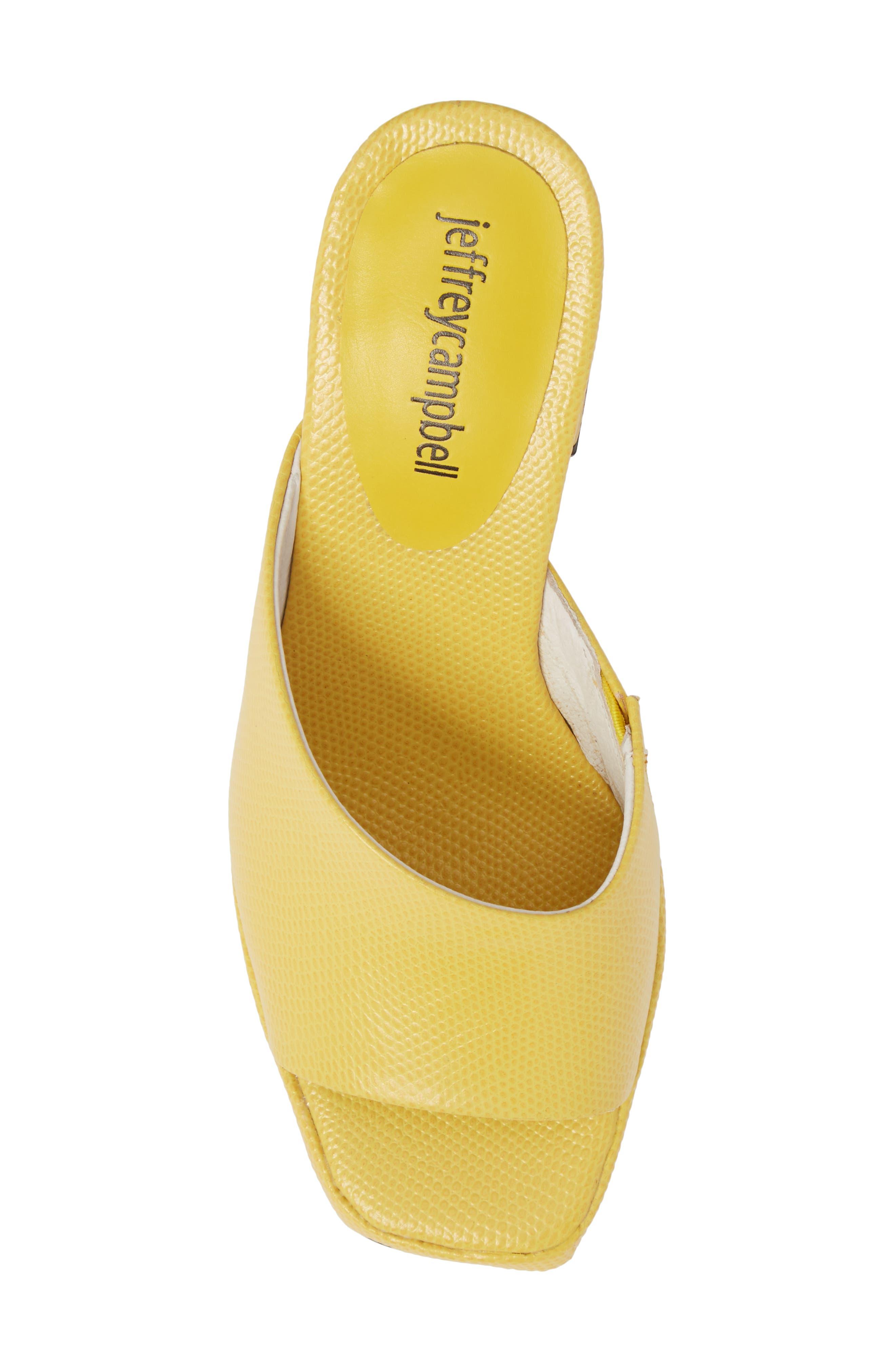 Suzuci Sandal,                             Alternate thumbnail 5, color,                             Yellow Leather