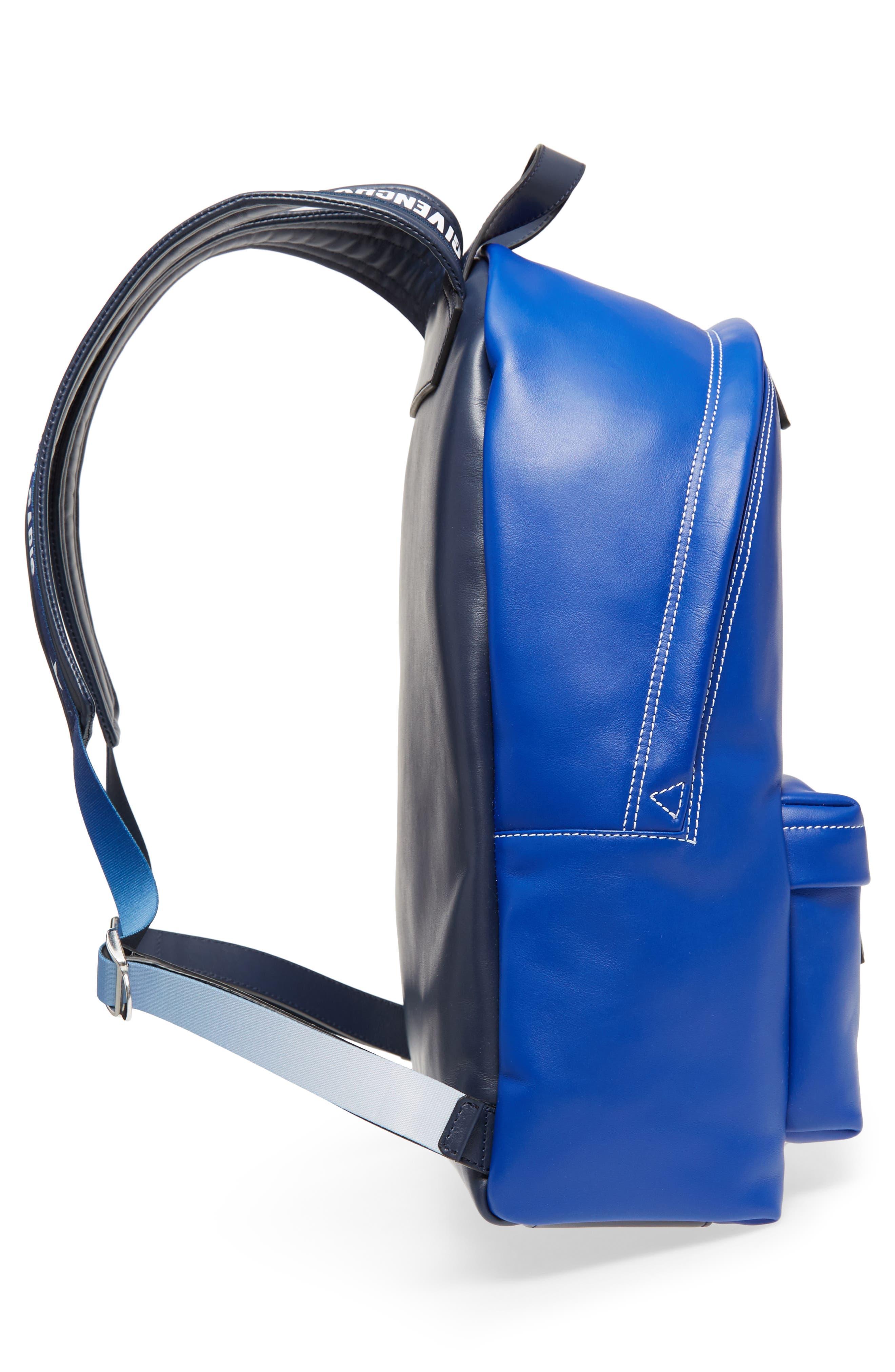 Logo Strap Backpack,                             Alternate thumbnail 5, color,                             Morroccan Blue