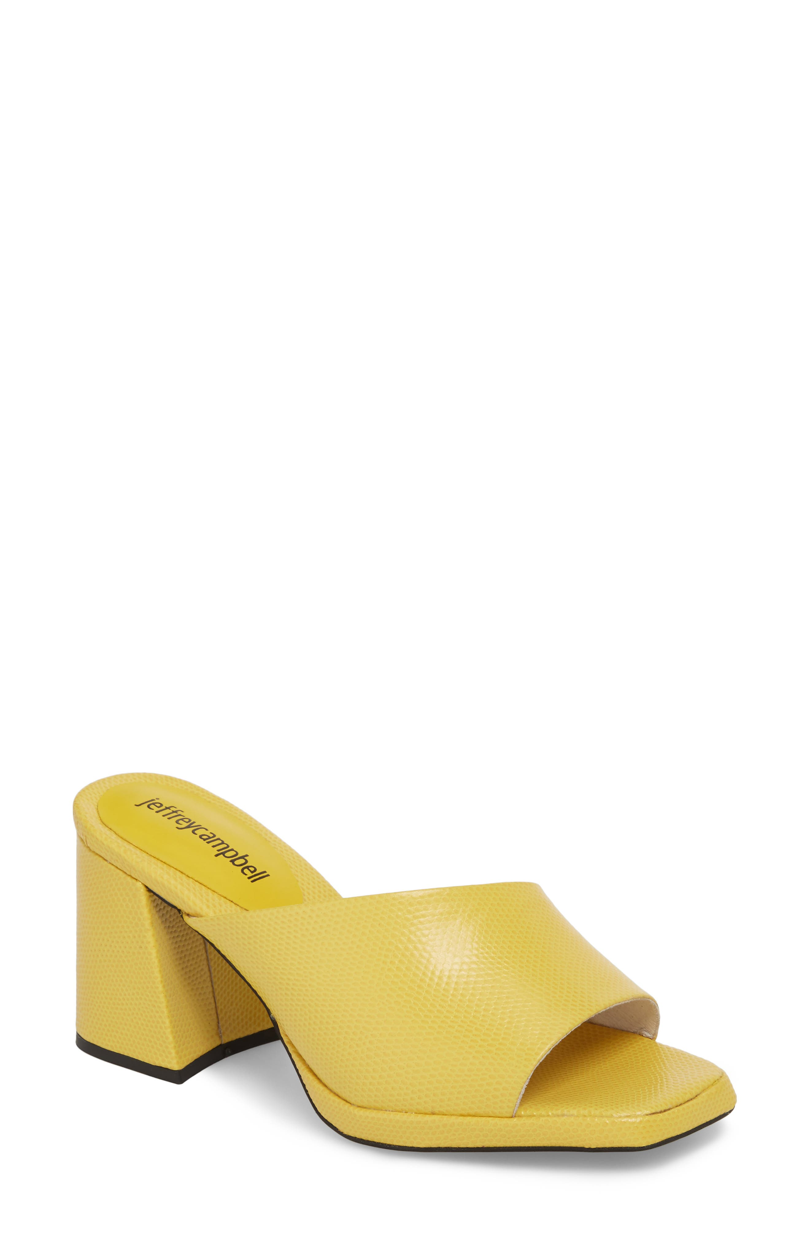 Suzuci Sandal,                         Main,                         color, Yellow Leather