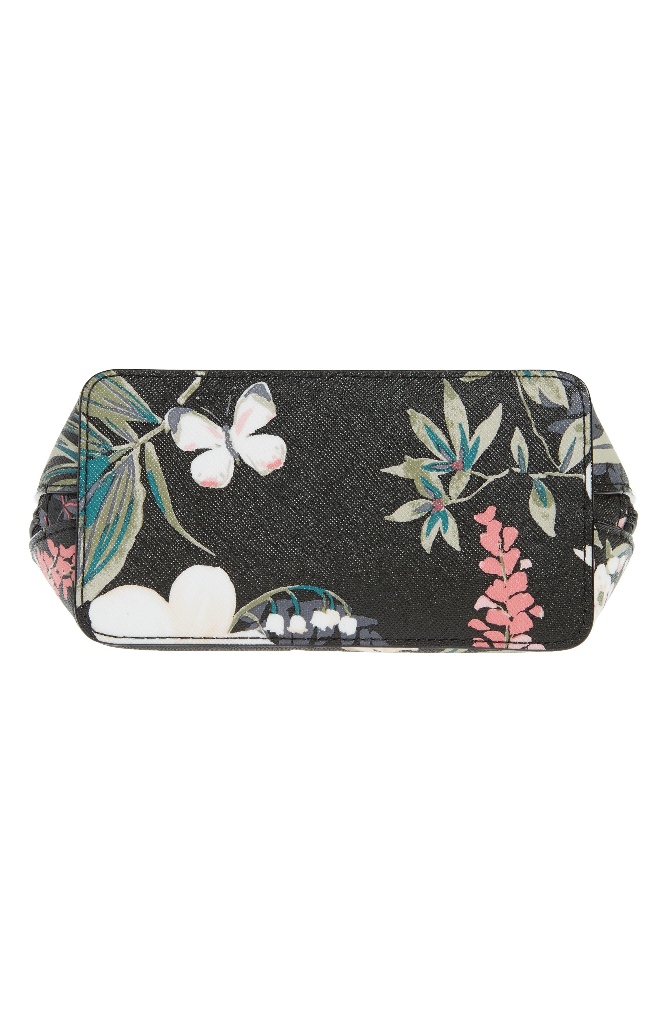 cameron street - small botanical abalene faux leather cosmetics case,                             Alternate thumbnail 5, color,                             Black Multi