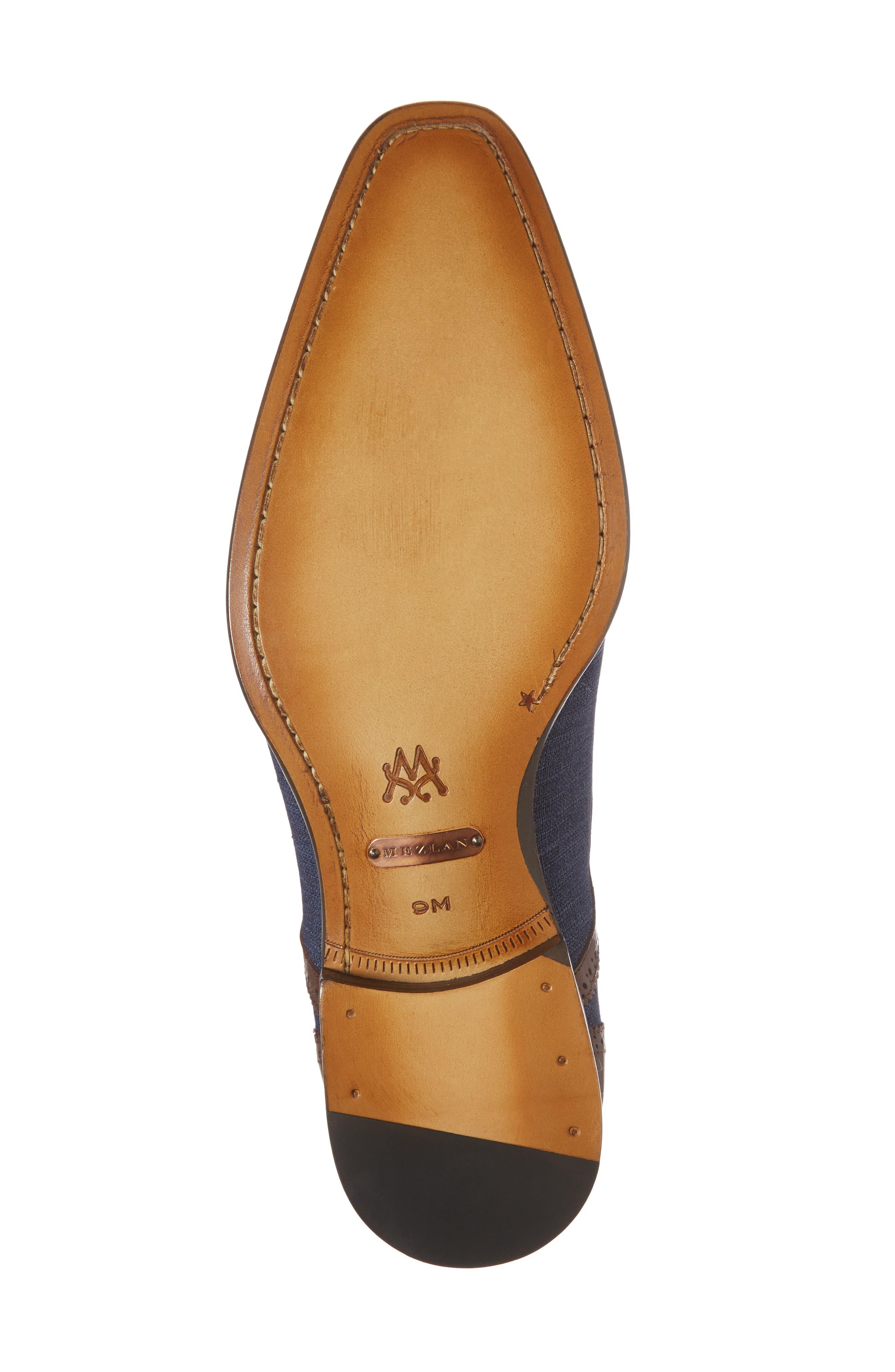 Cupido Double Monk Strap Cap Toe Shoe,                             Alternate thumbnail 6, color,                             Brown/ Blue Leather