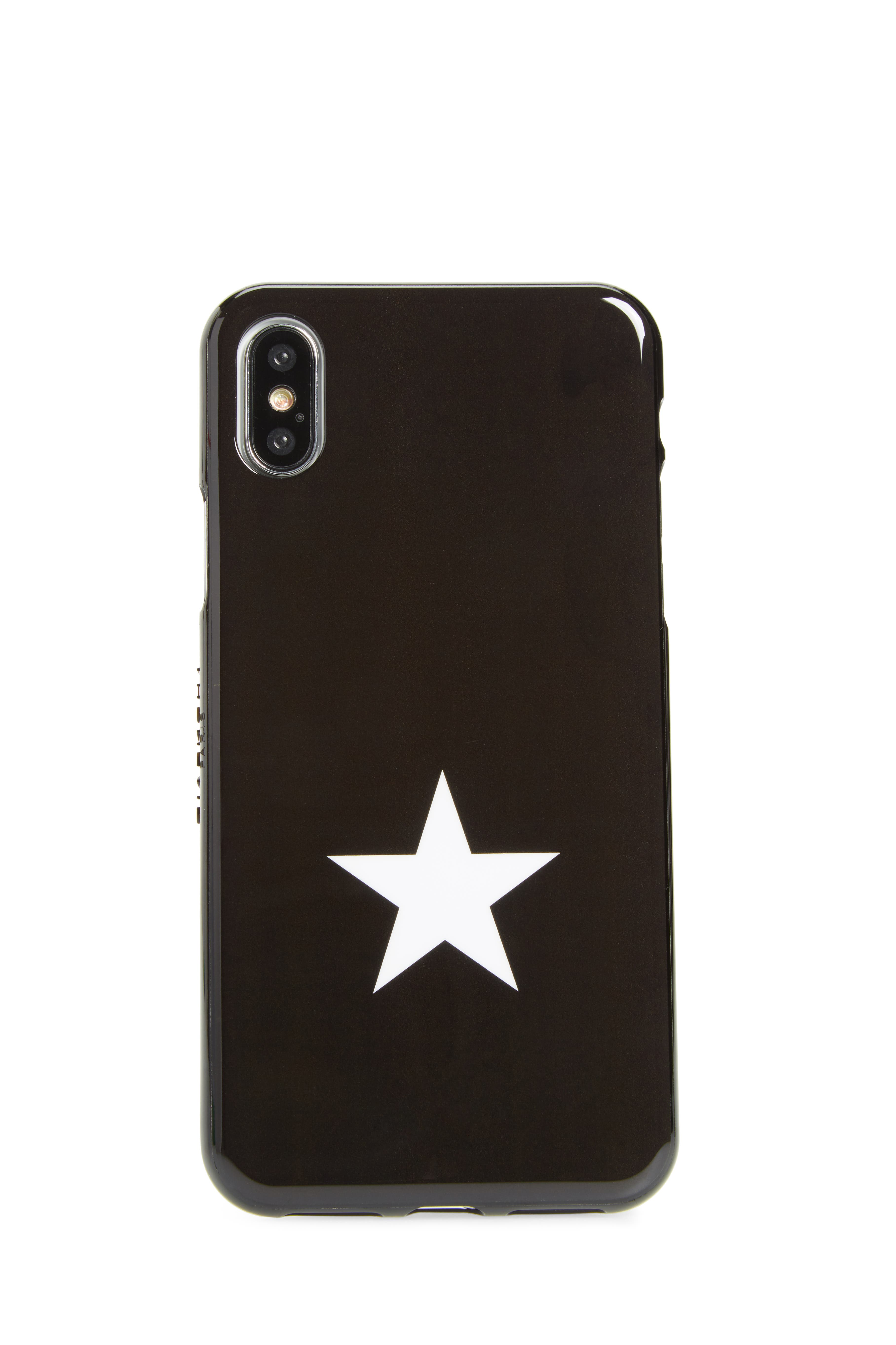 Star iPhone 8 Case,                             Main thumbnail 1, color,                             Black