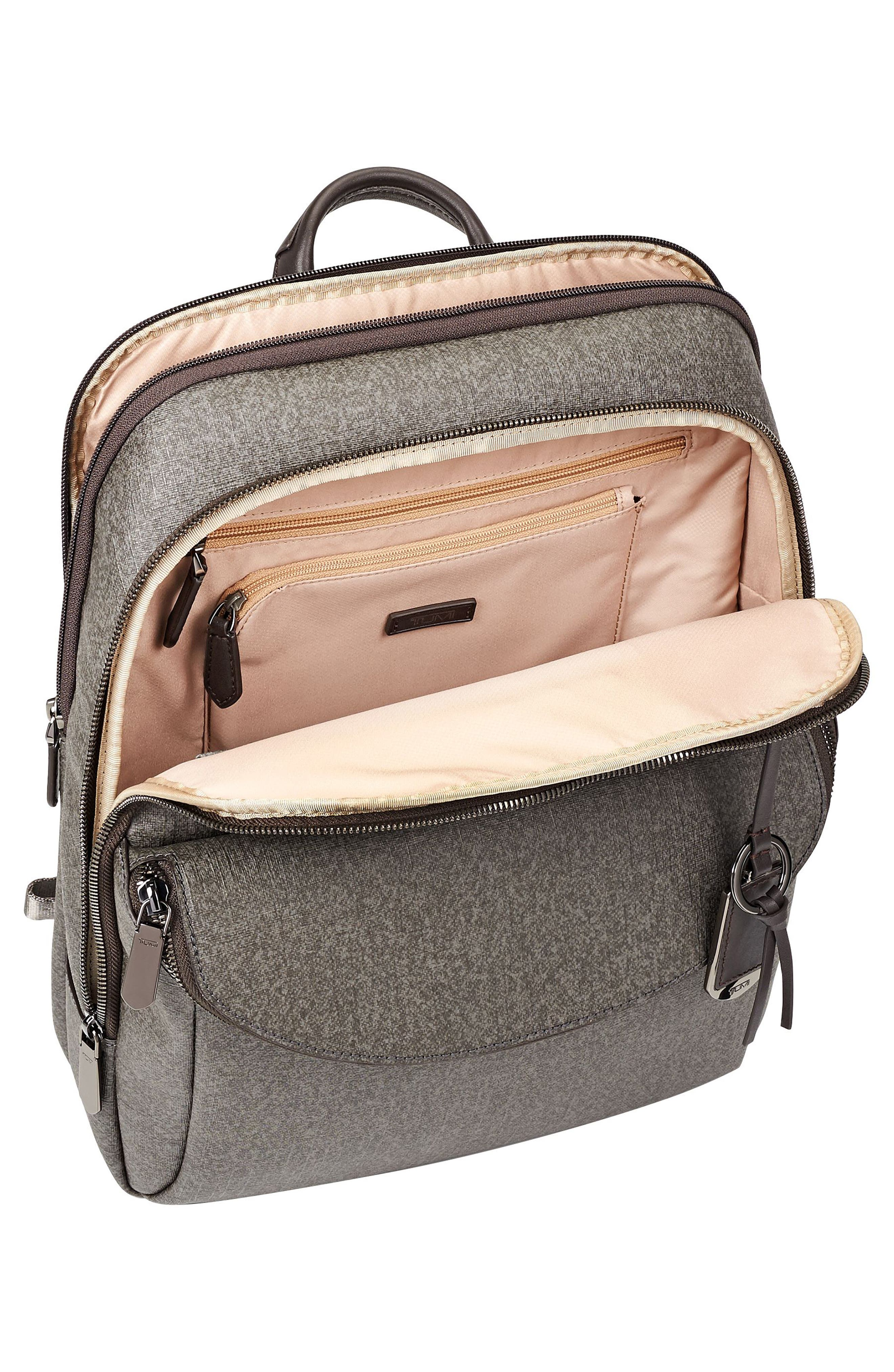Stanton – Hettie Coated Canvas Backpack,                             Alternate thumbnail 4, color,                             Earl Grey