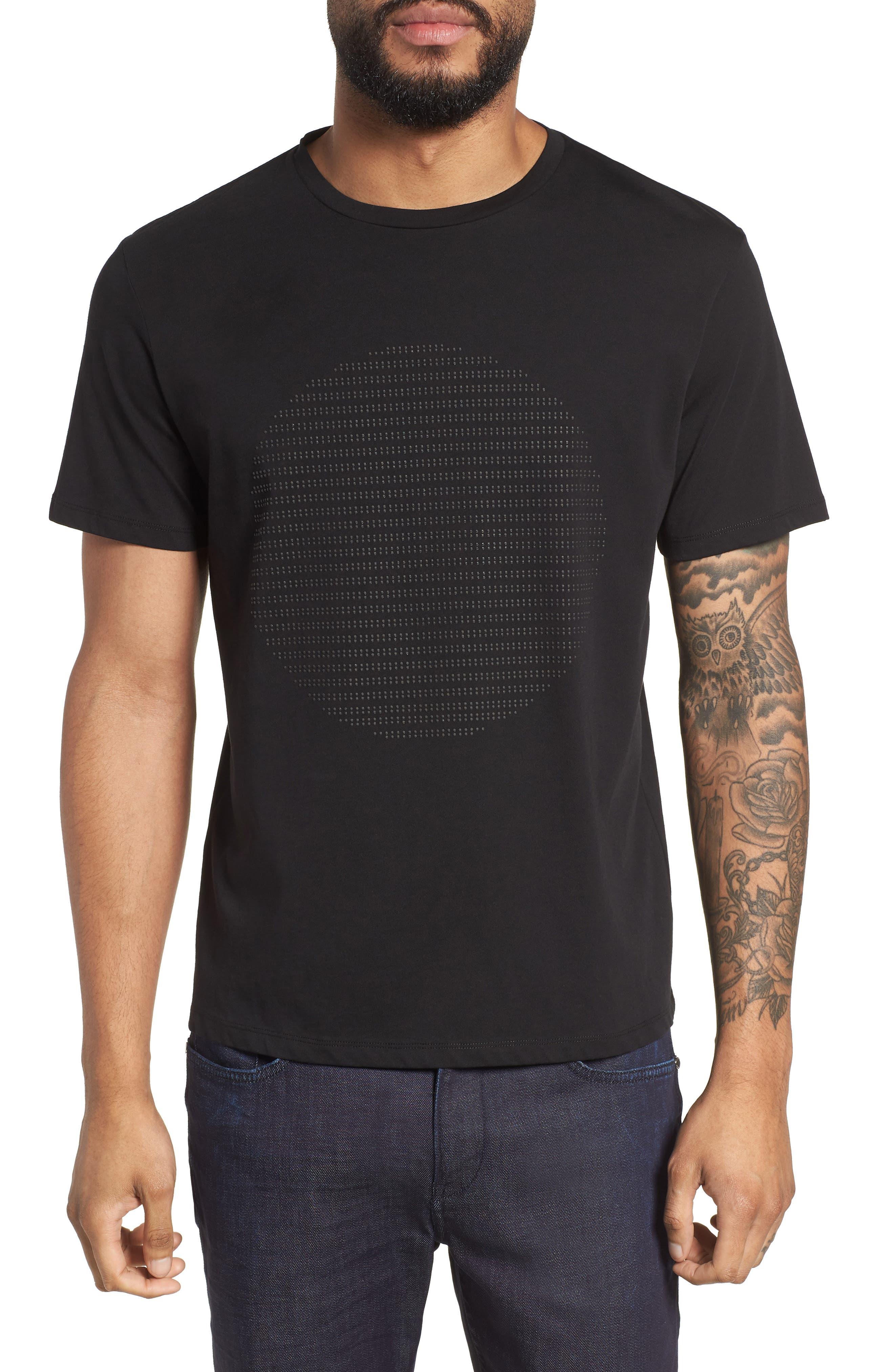 Lunar Crewneck Cotton T-Shirt,                         Main,                         color, Black